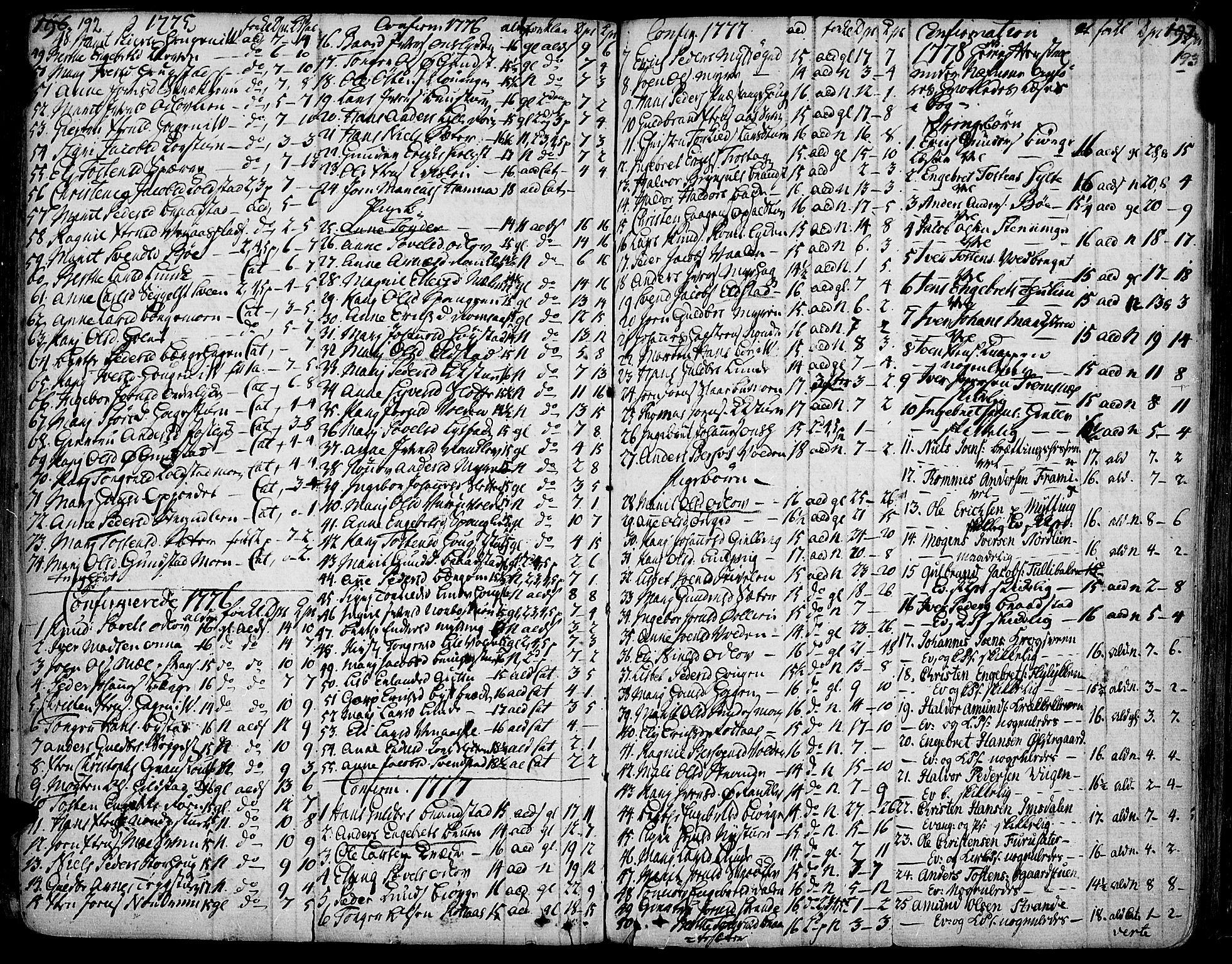 SAH, Ringebu prestekontor, Ministerialbok nr. 2, 1734-1780, s. 192-193