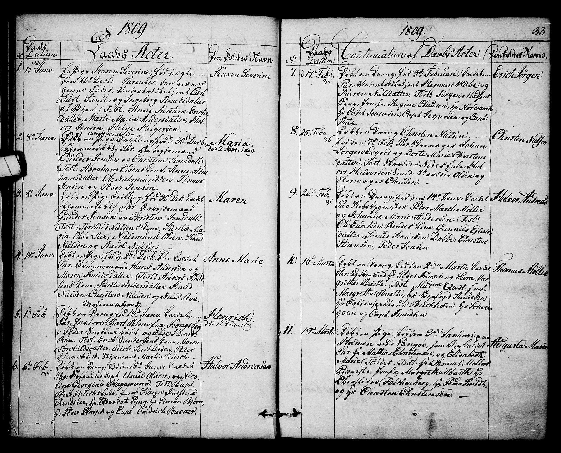 SAKO, Kragerø kirkebøker, F/Fa/L0003: Ministerialbok nr. 3, 1802-1813, s. 33