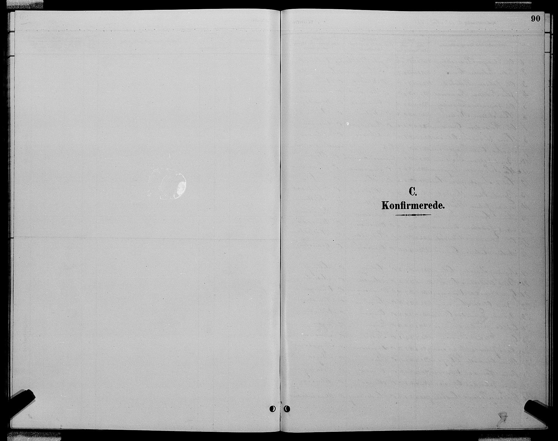 SAT, Ministerialprotokoller, klokkerbøker og fødselsregistre - Sør-Trøndelag, 688/L1028: Klokkerbok nr. 688C03, 1889-1899, s. 90