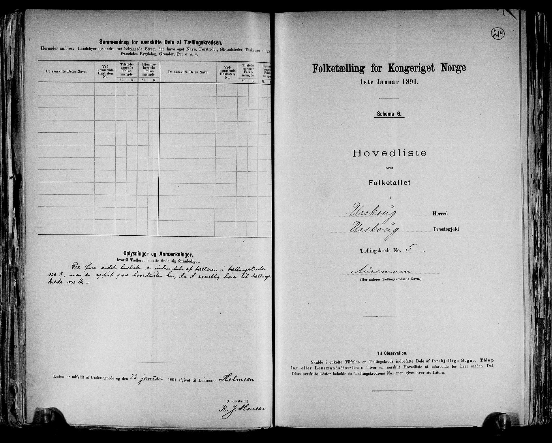 RA, Folketelling 1891 for 0224 Aurskog herred, 1891, s. 16