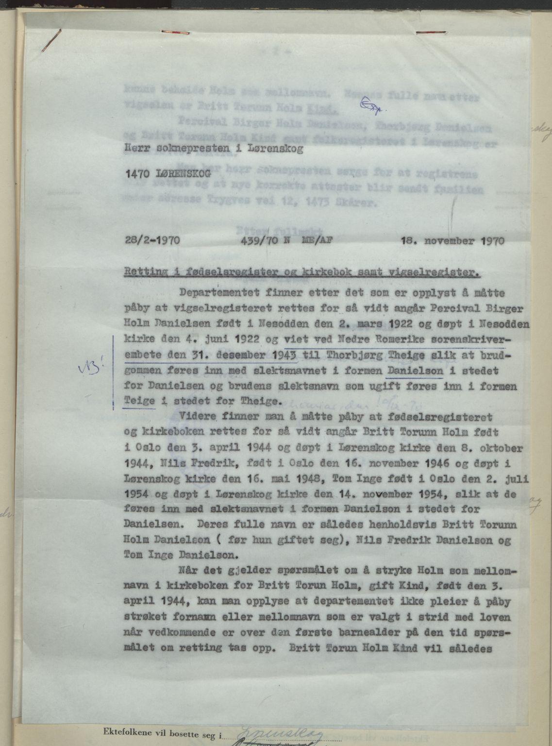 SAO, Nedre Romerike sorenskriveri, L/Lb/L0004: Vigselsbok - borgerlige vielser, 1943-1944, s. upaginert