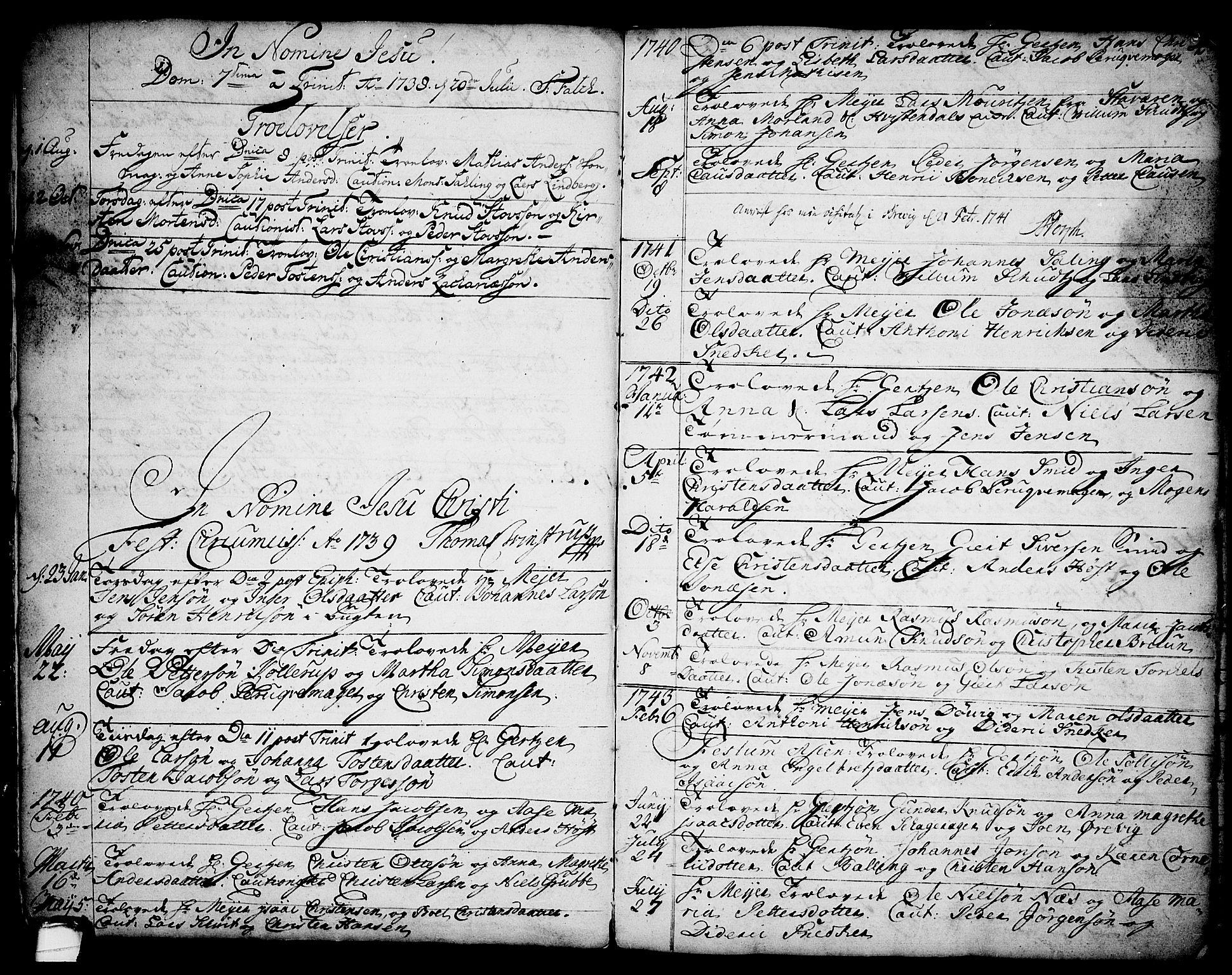 SAKO, Brevik kirkebøker, F/Fa/L0002: Ministerialbok nr. 2, 1720-1764, s. 4