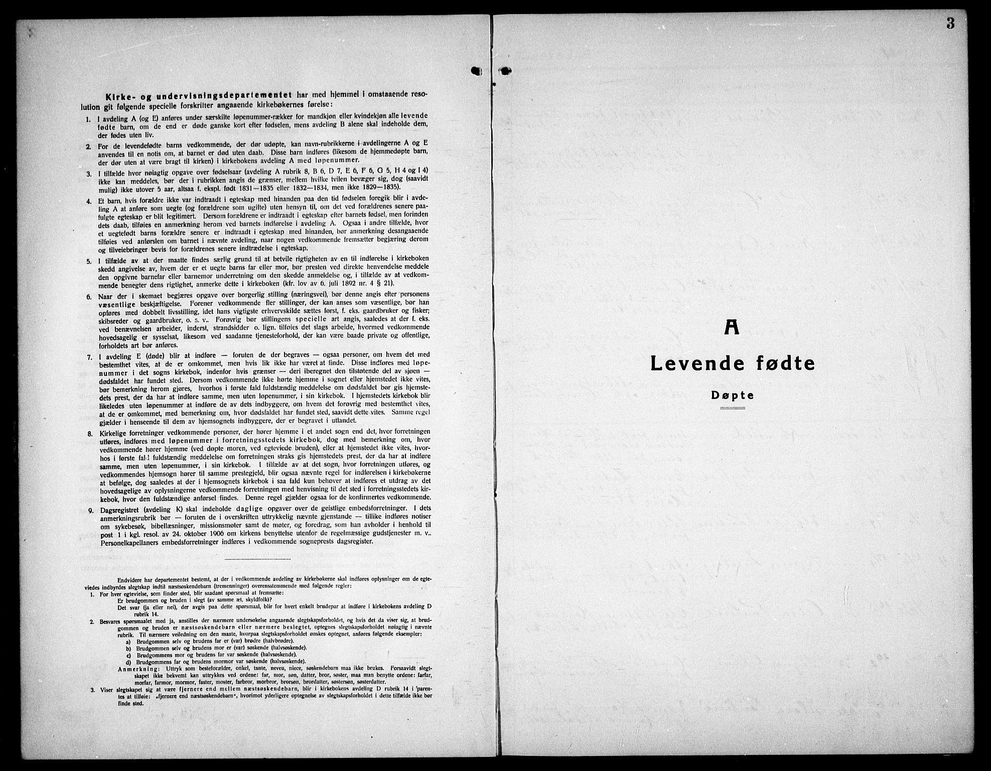 SAT, Ministerialprotokoller, klokkerbøker og fødselsregistre - Sør-Trøndelag, 656/L0696: Klokkerbok nr. 656C02, 1921-1937, s. 3