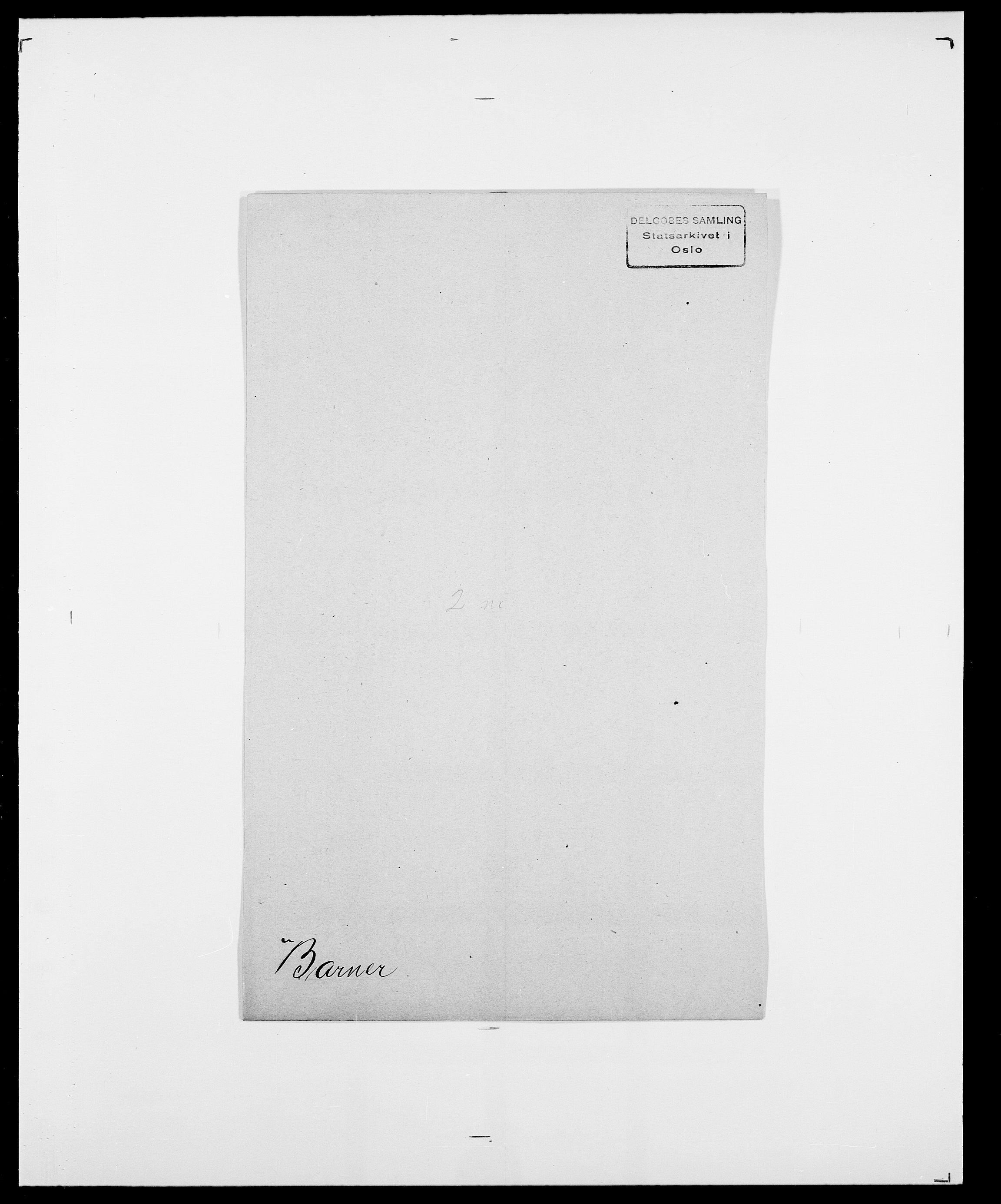 SAO, Delgobe, Charles Antoine - samling, D/Da/L0003: Barca - Bergen, s. 349