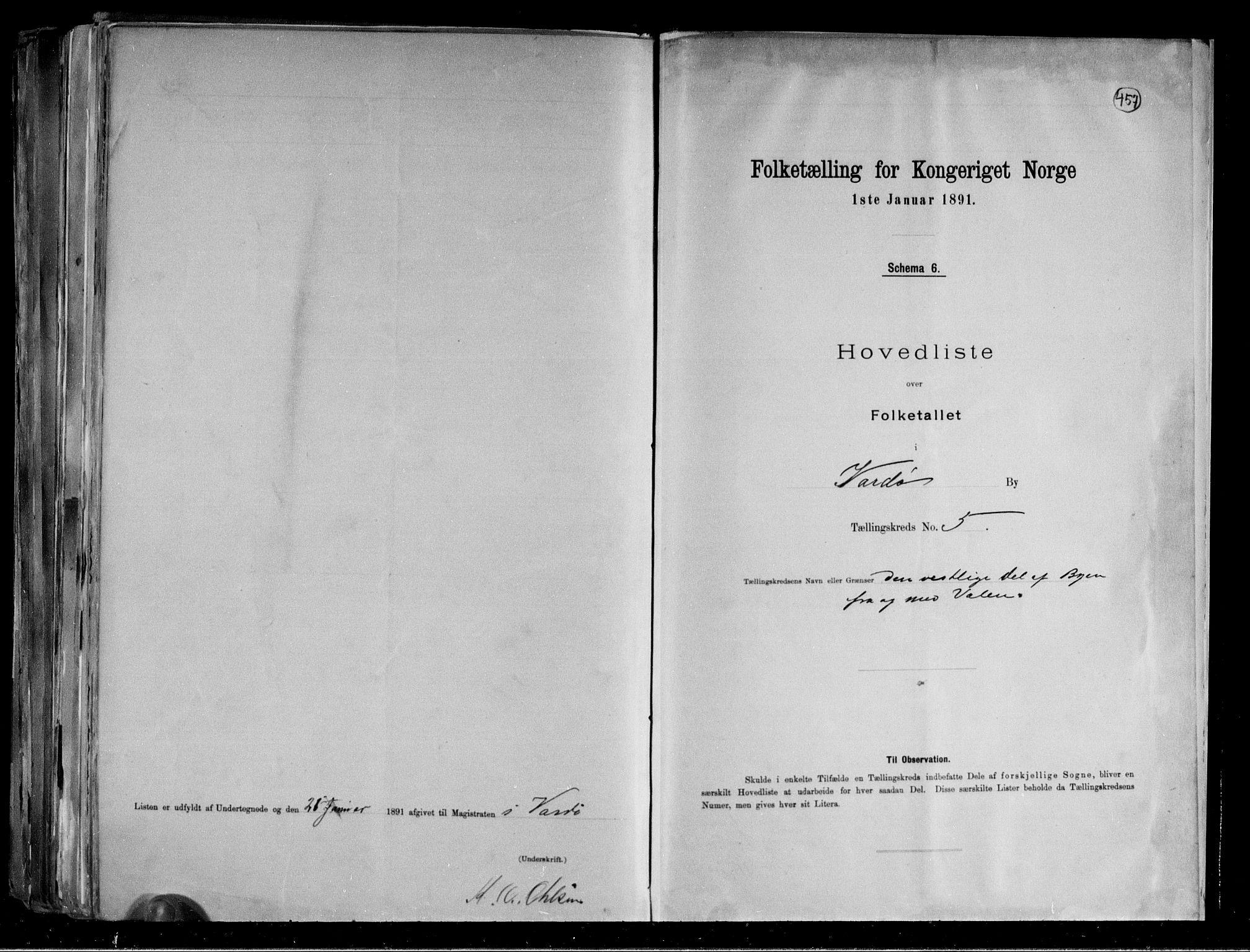 RA, Folketelling 1891 for 2002 Vardø kjøpstad, 1891, s. 13