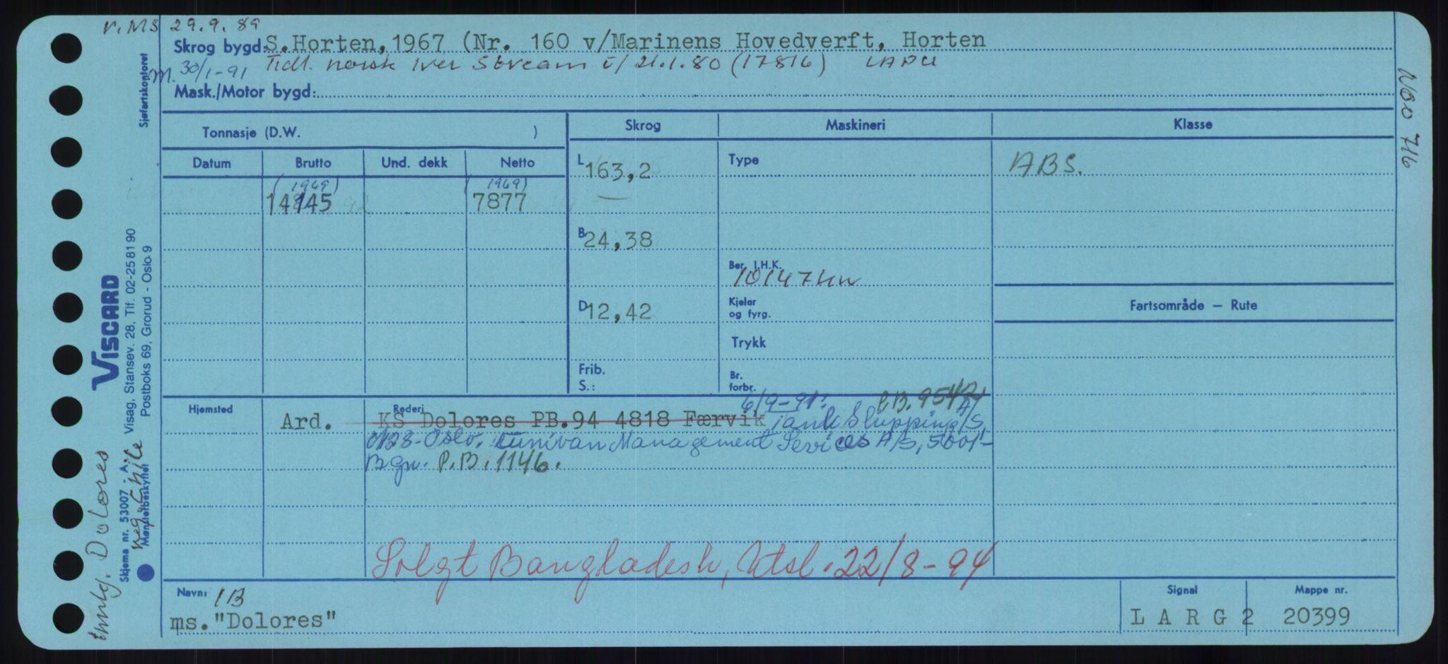 RA, Sjøfartsdirektoratet med forløpere, Skipsmålingen, H/Hd/L0008: Fartøy, C-D, s. 565