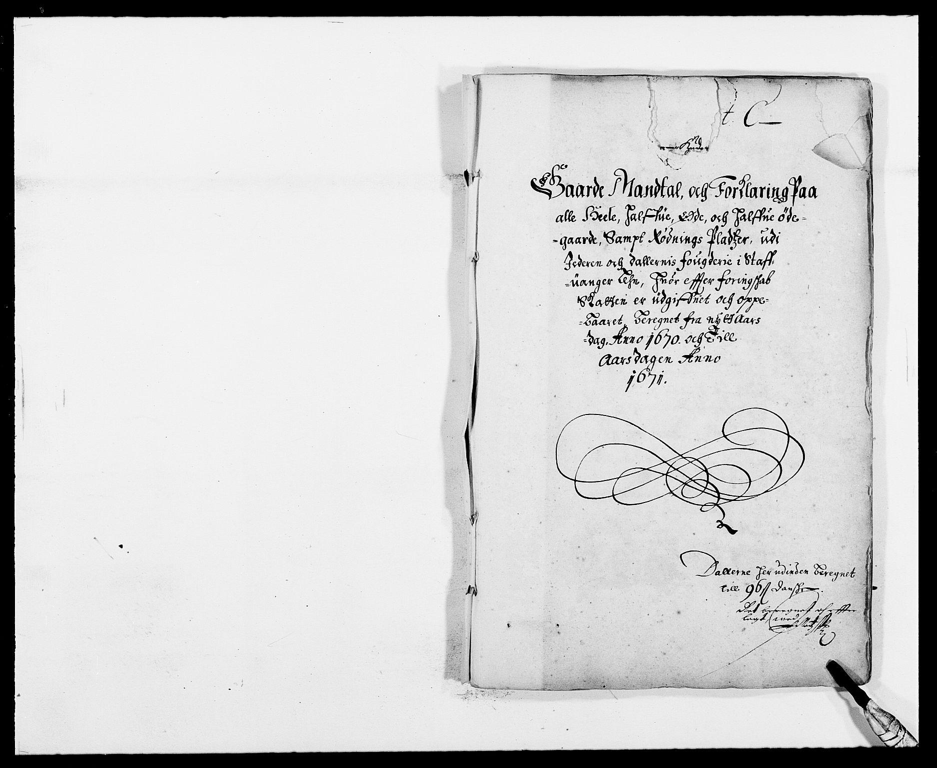 RA, Rentekammeret inntil 1814, Reviderte regnskaper, Fogderegnskap, R46/L2712: Fogderegnskap Jæren og Dalane, 1670-1671, s. 44