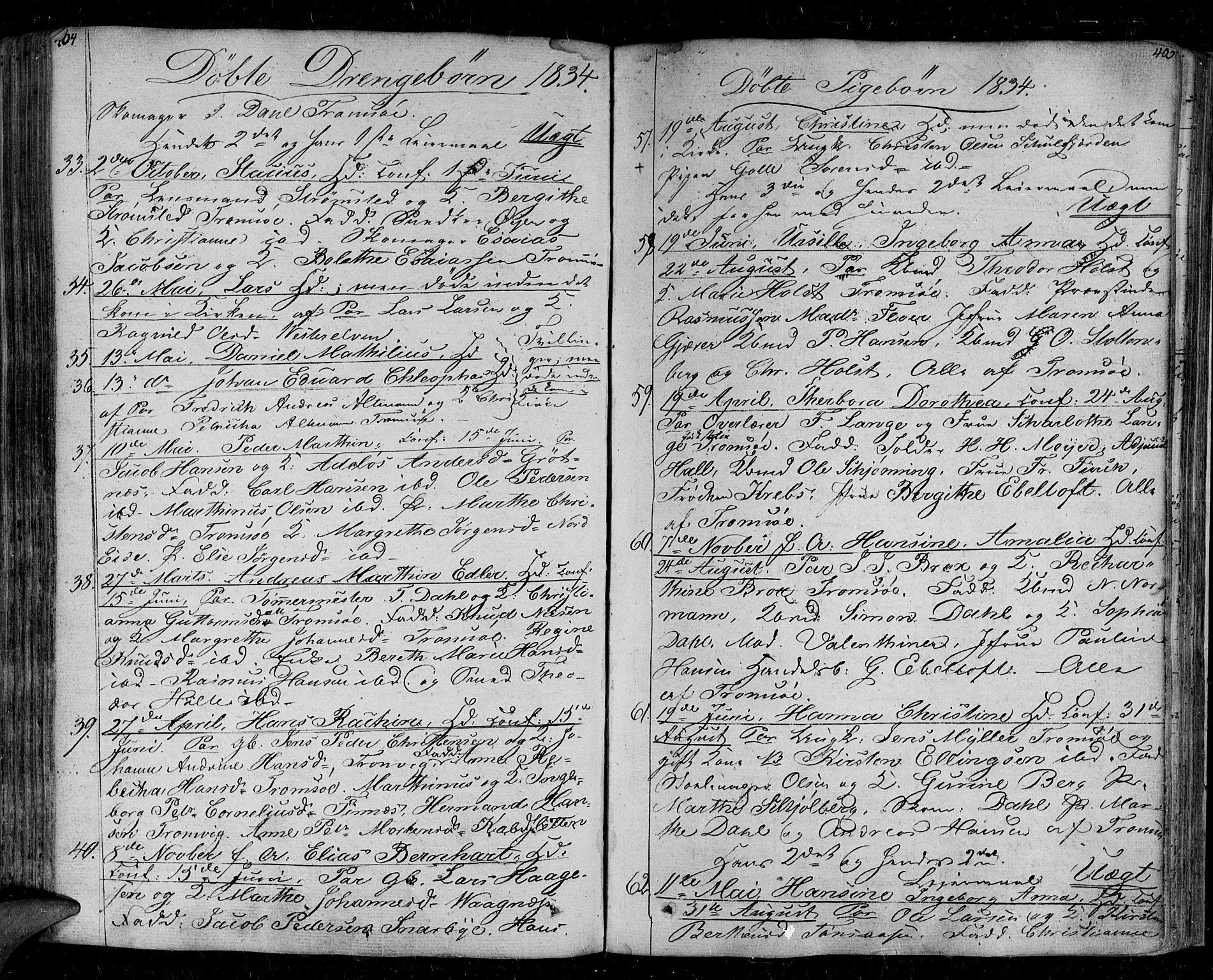 SATØ, Tromsø sokneprestkontor/stiftsprosti/domprosti, G/Ga/L0008kirke: Ministerialbok nr. 8, 1829-1837, s. 404-405