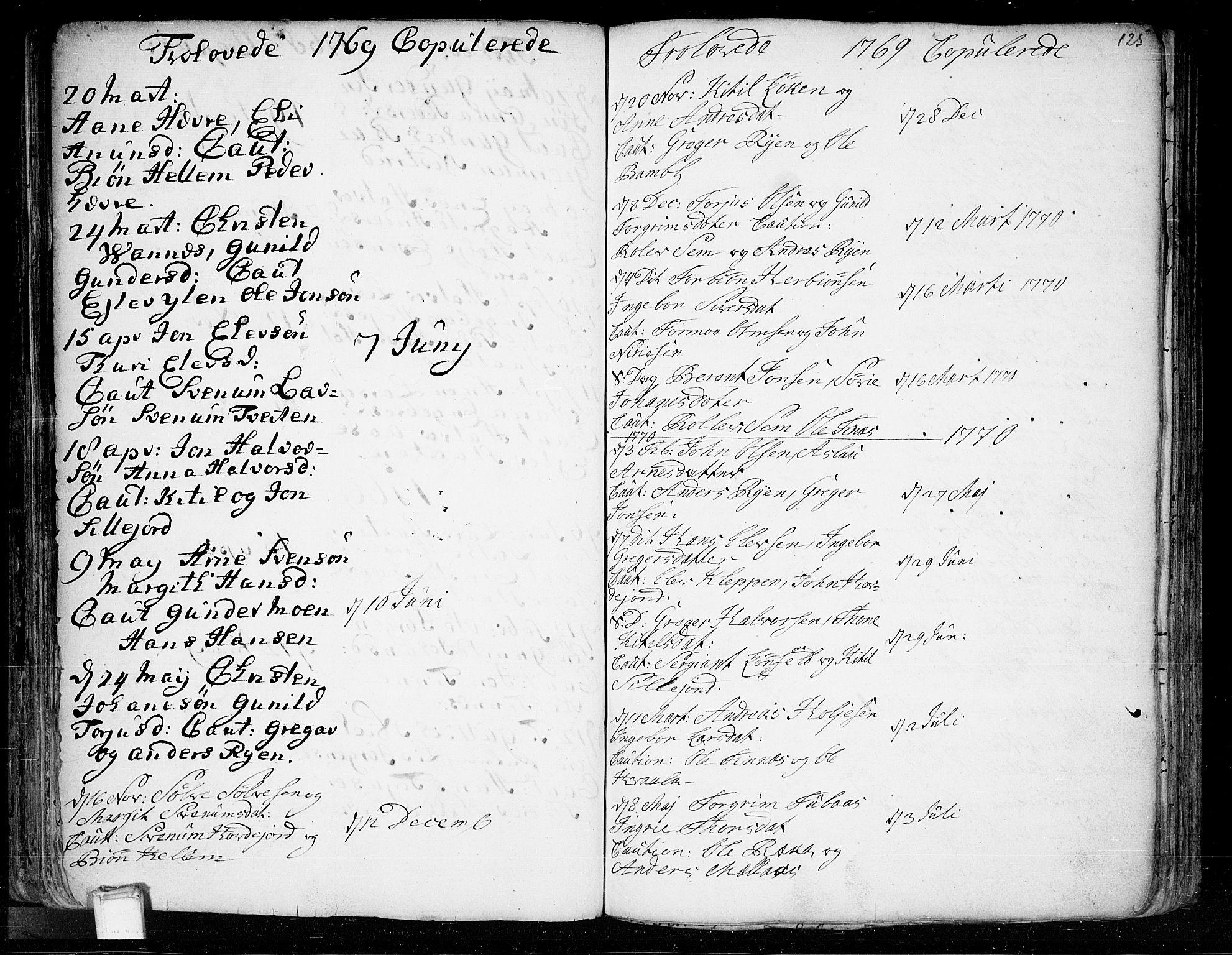 SAKO, Heddal kirkebøker, F/Fa/L0003: Ministerialbok nr. I 3, 1723-1783, s. 125
