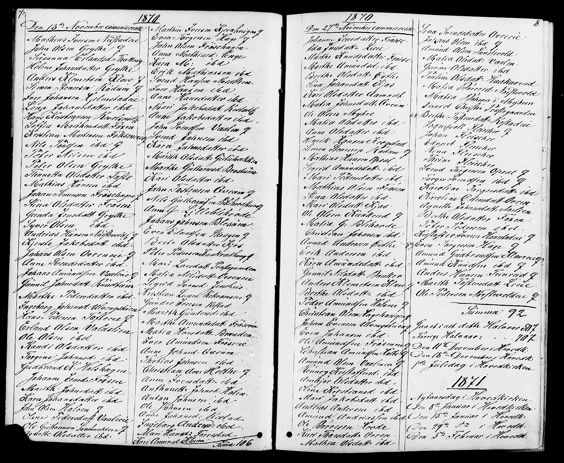 SAH, Østre Gausdal prestekontor, Klokkerbok nr. 1, 1863-1893, s. 7-8