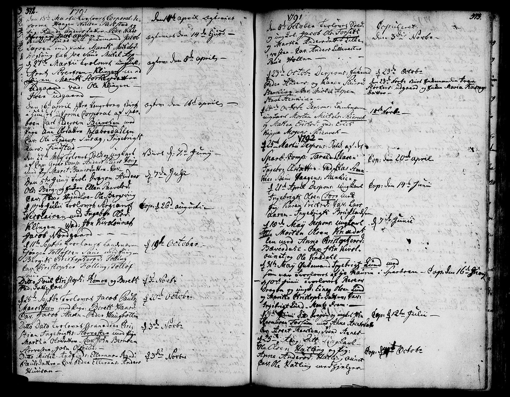 SAT, Ministerialprotokoller, klokkerbøker og fødselsregistre - Nord-Trøndelag, 746/L0440: Ministerialbok nr. 746A02, 1760-1815, s. 372-373