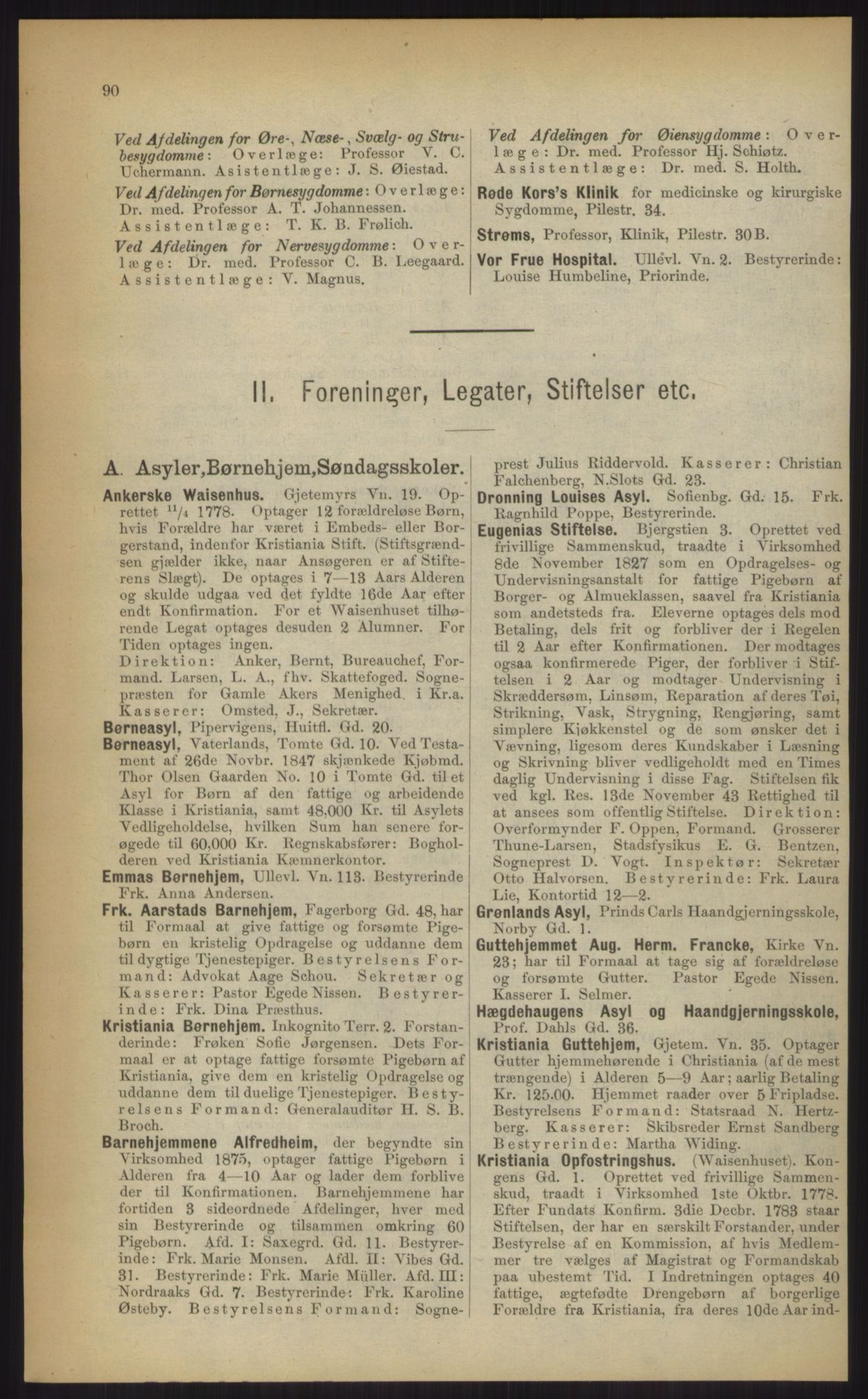 RA, Kristiania adressebok (publikasjon)*, 1903, s. 90