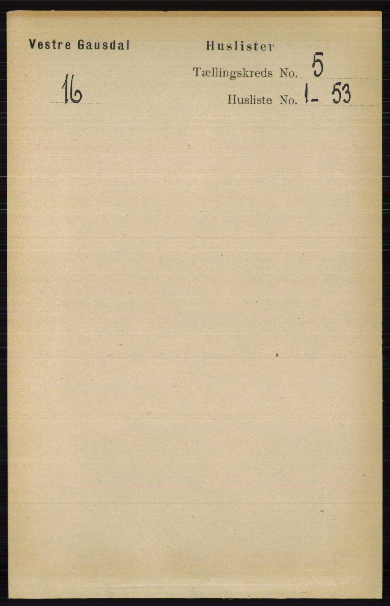 RA, Folketelling 1891 for 0523 Vestre Gausdal herred, 1891, s. 2117