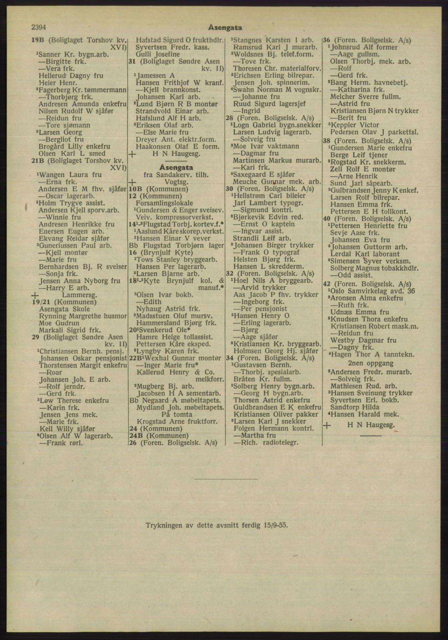 PUBL, Kristiania/Oslo adressebok, 1955, s. 2394