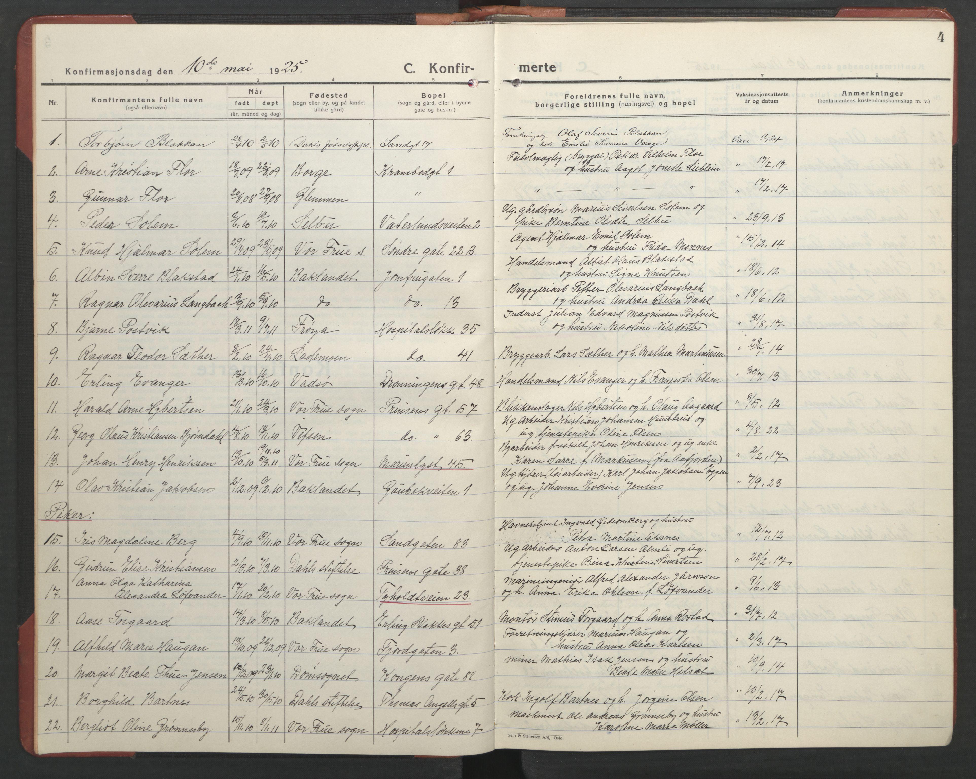 SAT, Ministerialprotokoller, klokkerbøker og fødselsregistre - Sør-Trøndelag, 602/L0151: Klokkerbok nr. 602C19, 1925-1951, s. 4