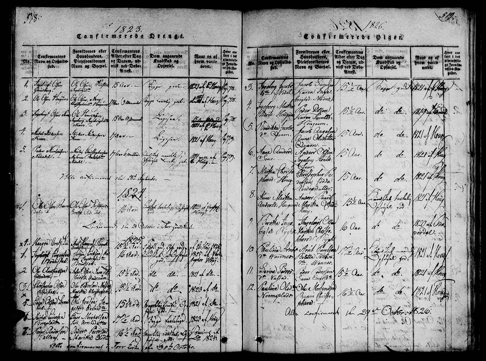 SAT, Ministerialprotokoller, klokkerbøker og fødselsregistre - Nord-Trøndelag, 746/L0441: Ministerialbok nr. 746A03 /2, 1816-1827, s. 518-519