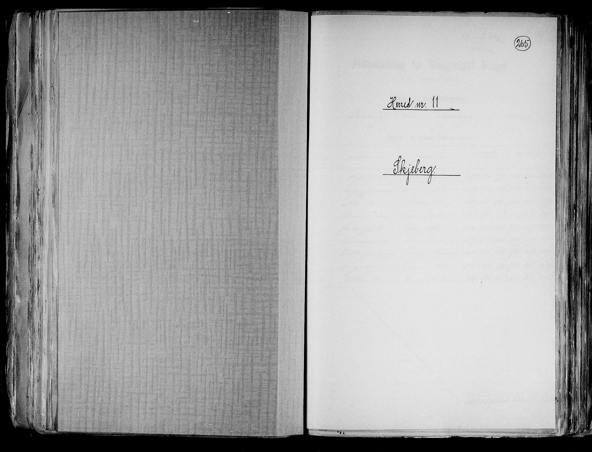 RA, Folketelling 1891 for 0115 Skjeberg herred, 1891, s. 1