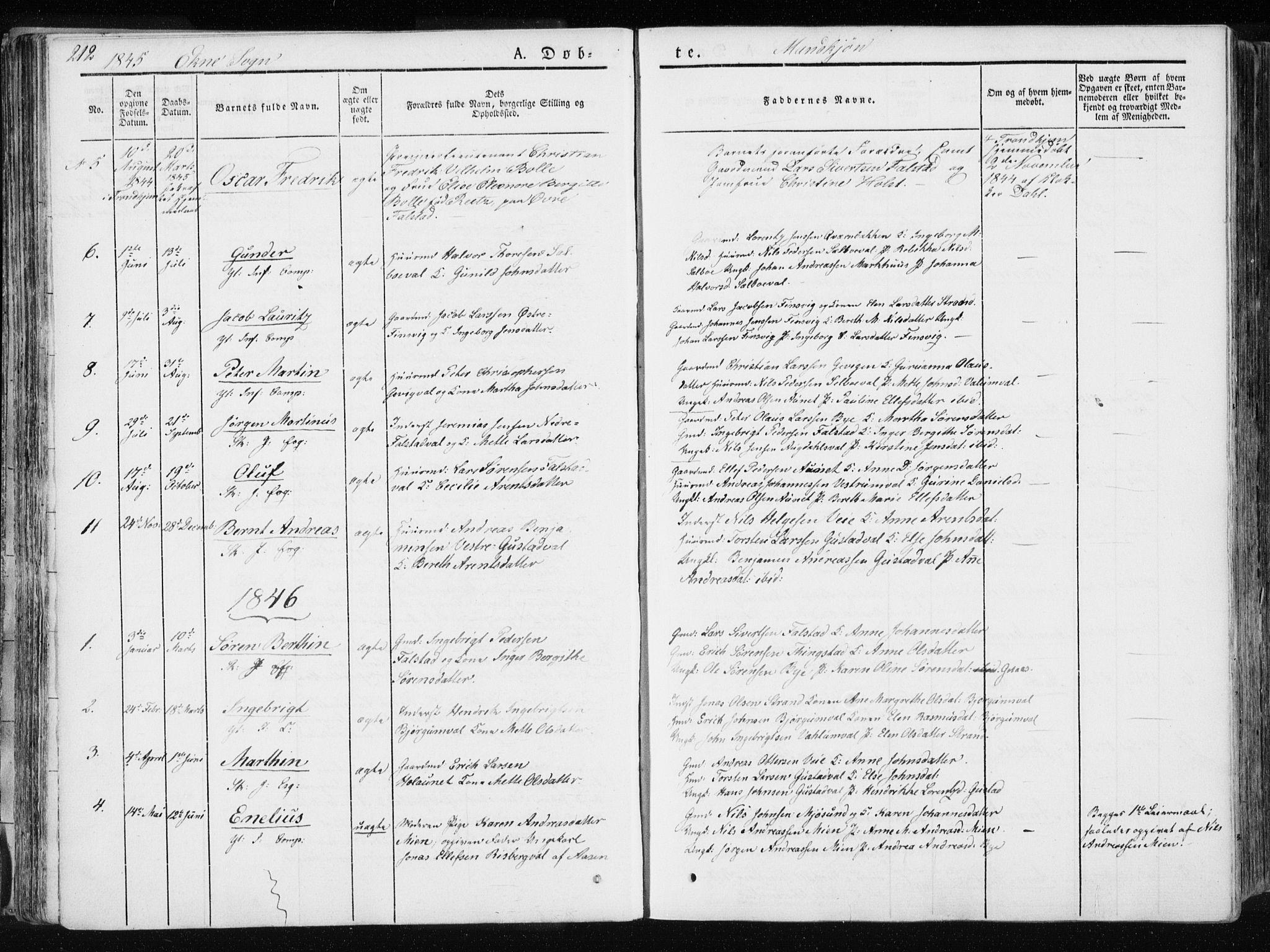SAT, Ministerialprotokoller, klokkerbøker og fødselsregistre - Nord-Trøndelag, 717/L0154: Ministerialbok nr. 717A06 /2, 1836-1849, s. 212