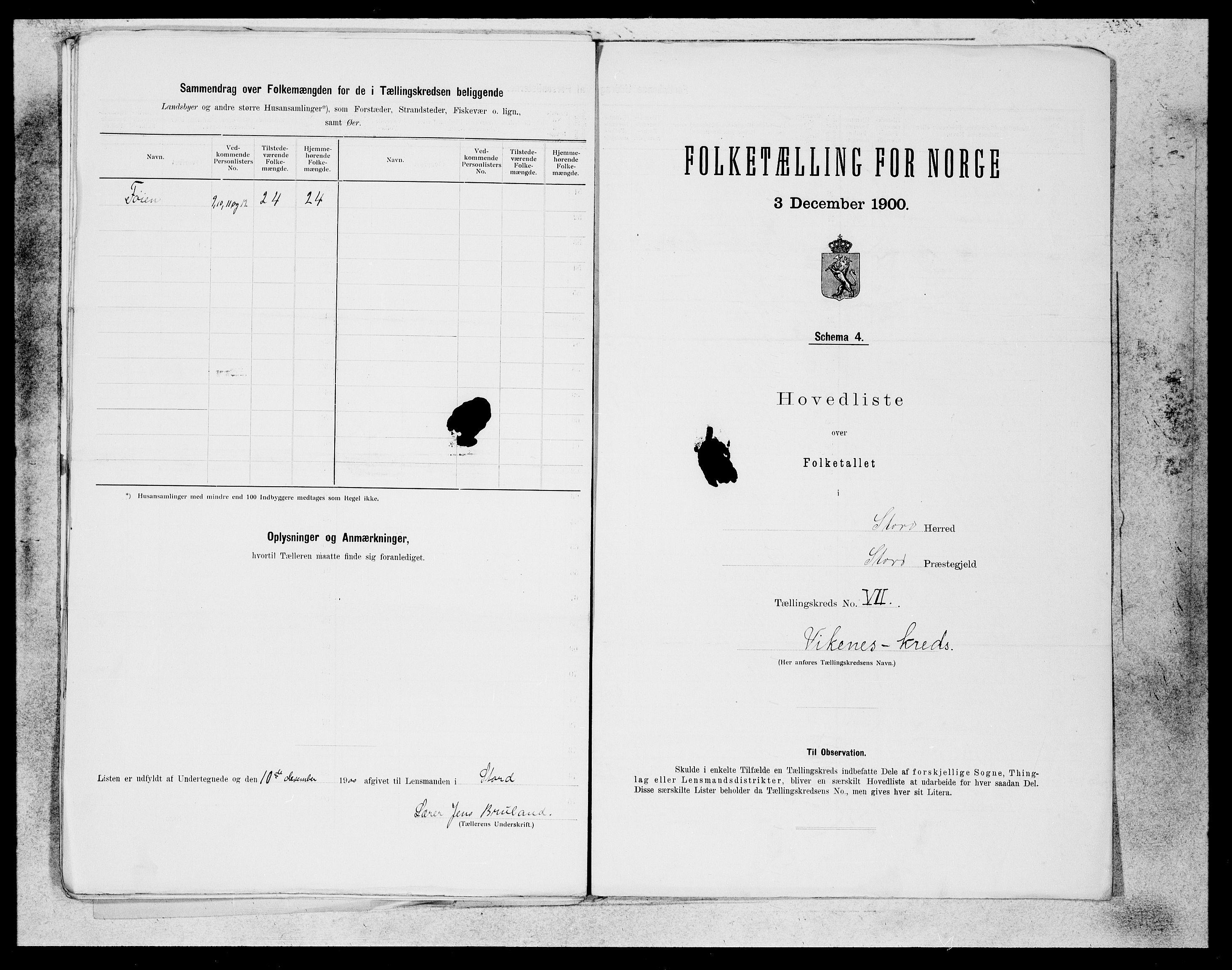 SAB, Folketelling 1900 for 1221 Stord herred, 1900, s. 16