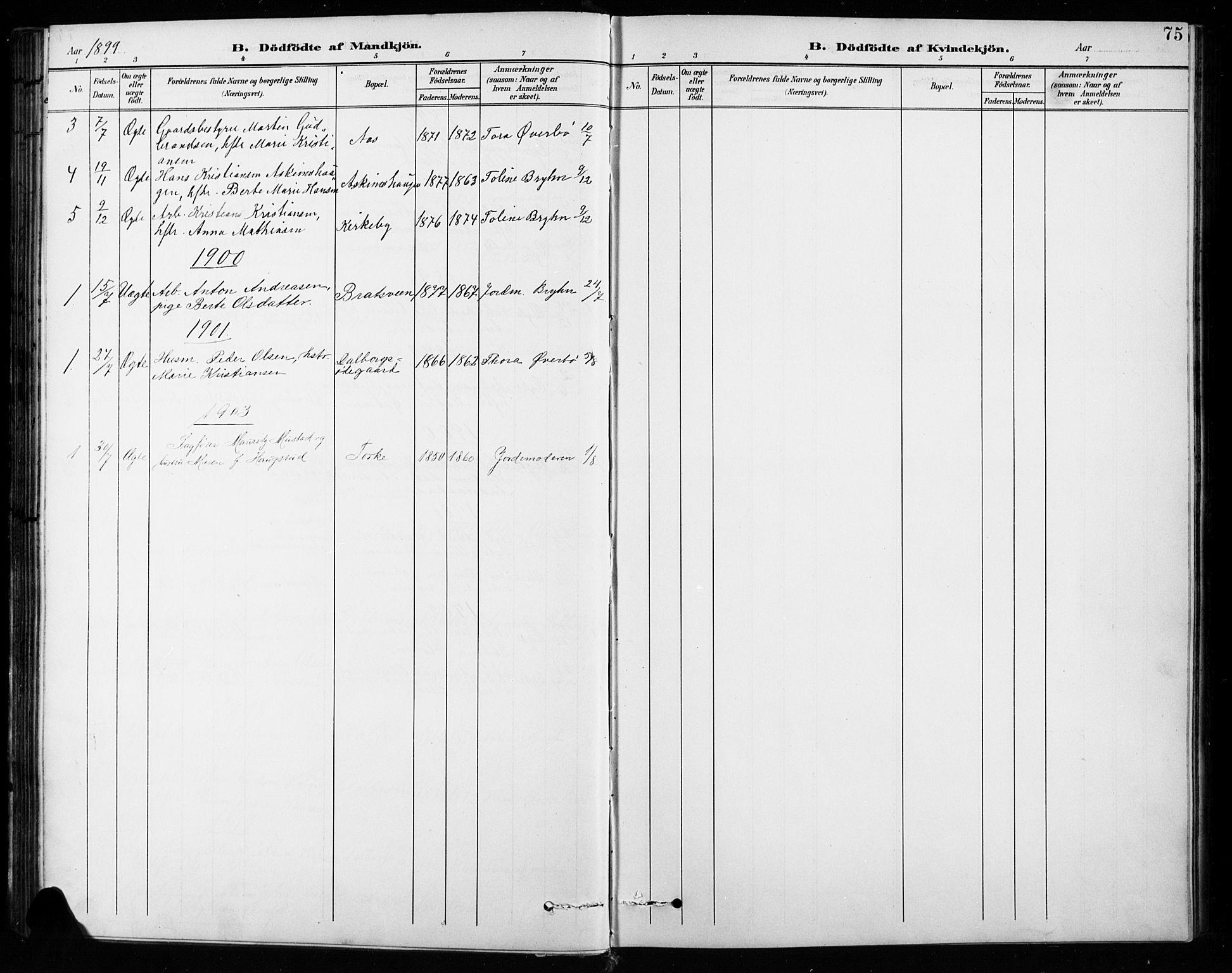 SAH, Vardal prestekontor, H/Ha/Hab/L0010: Klokkerbok nr. 10, 1895-1903, s. 75