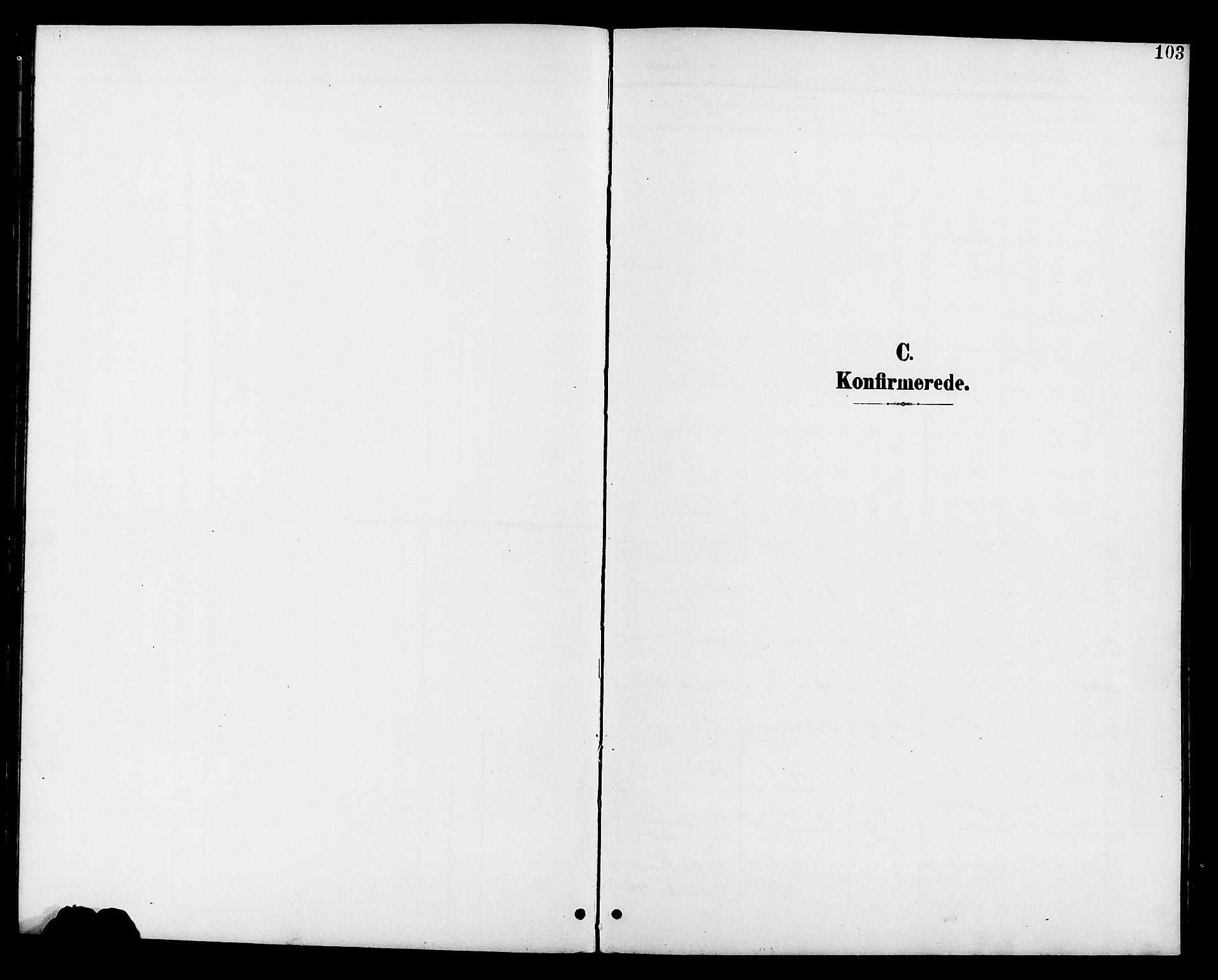 SAH, Vestre Toten prestekontor, Klokkerbok nr. 11, 1901-1911, s. 103