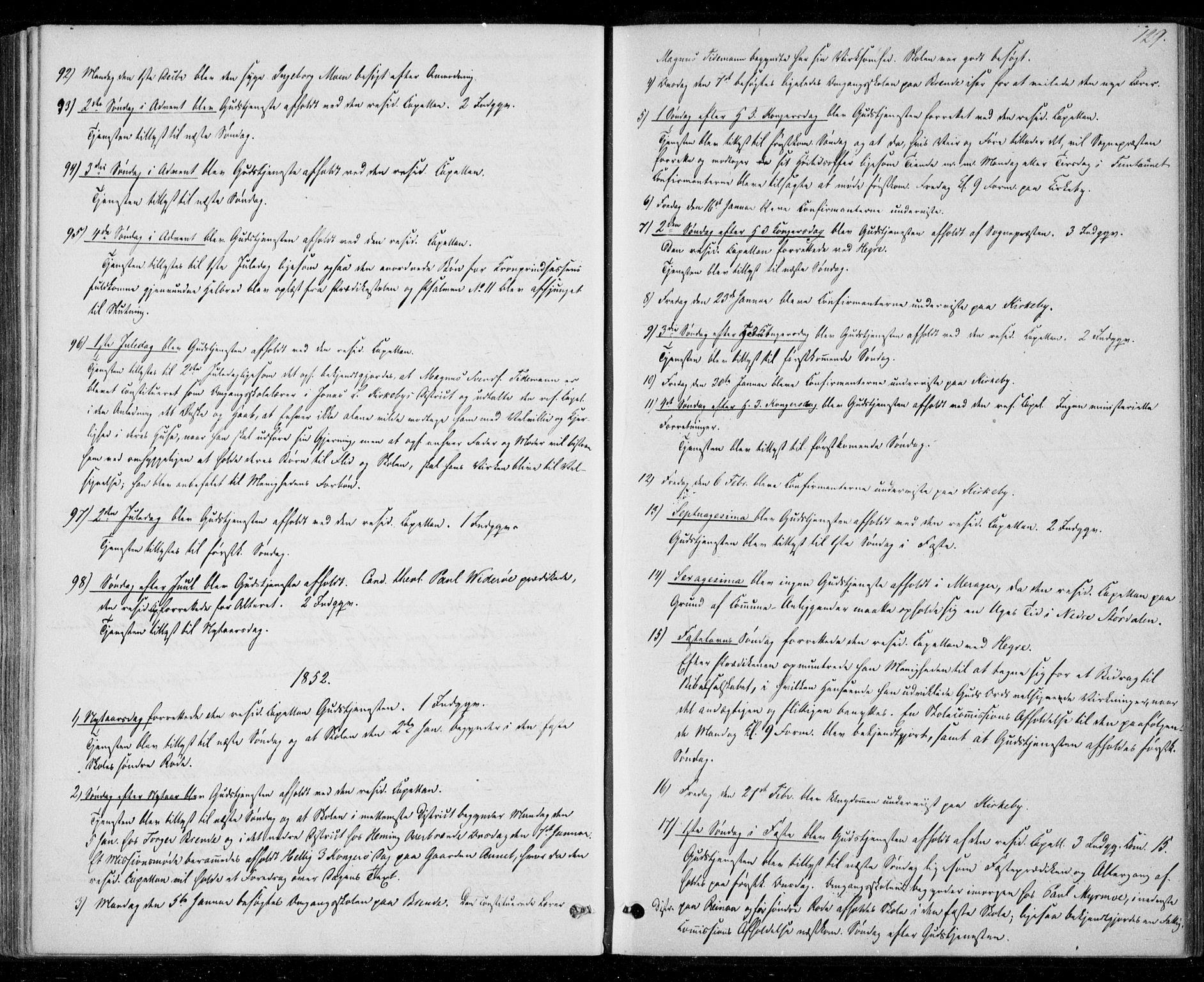 SAT, Ministerialprotokoller, klokkerbøker og fødselsregistre - Nord-Trøndelag, 706/L0040: Ministerialbok nr. 706A01, 1850-1861, s. 129