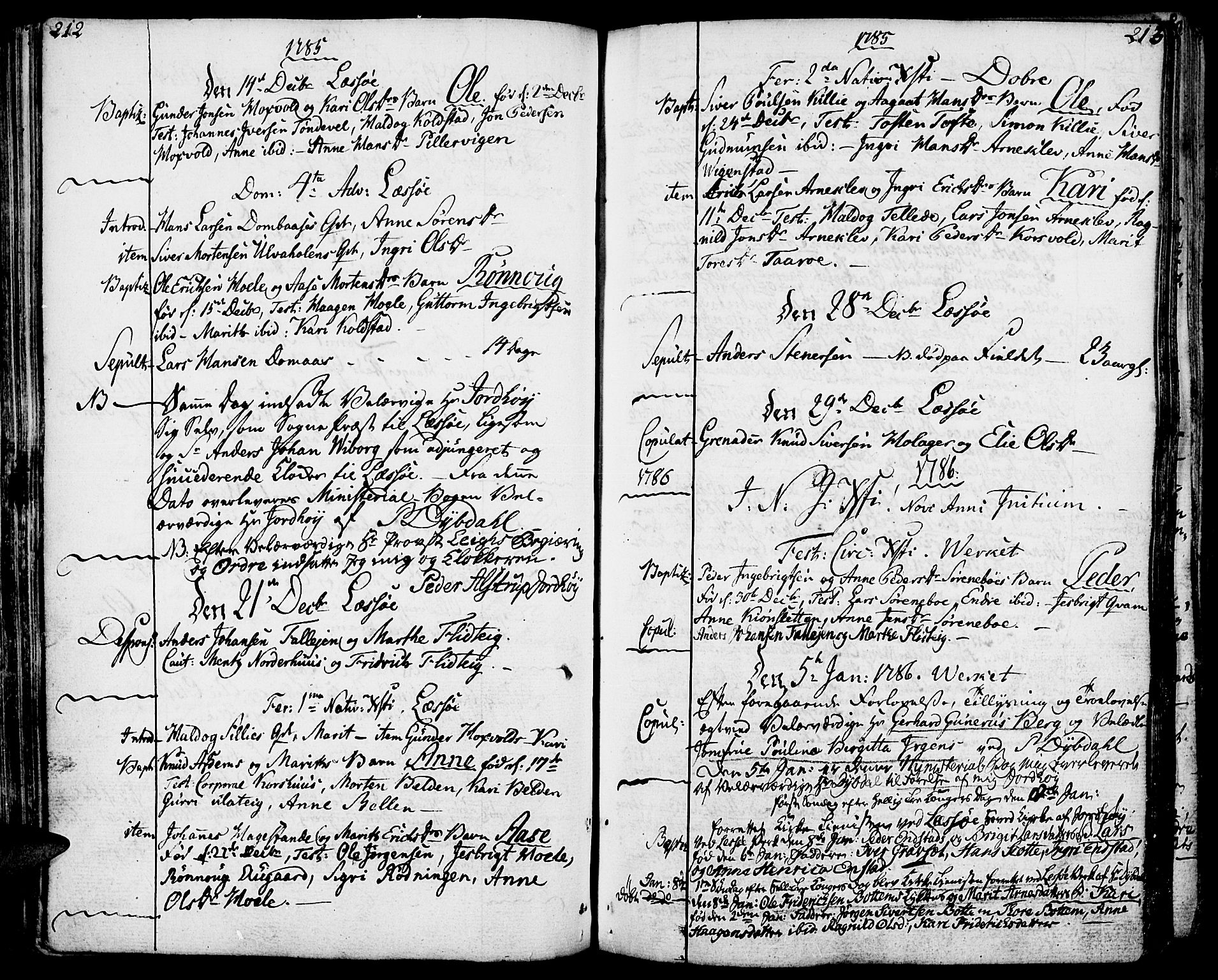 SAH, Lesja prestekontor, Ministerialbok nr. 3, 1777-1819, s. 212-213