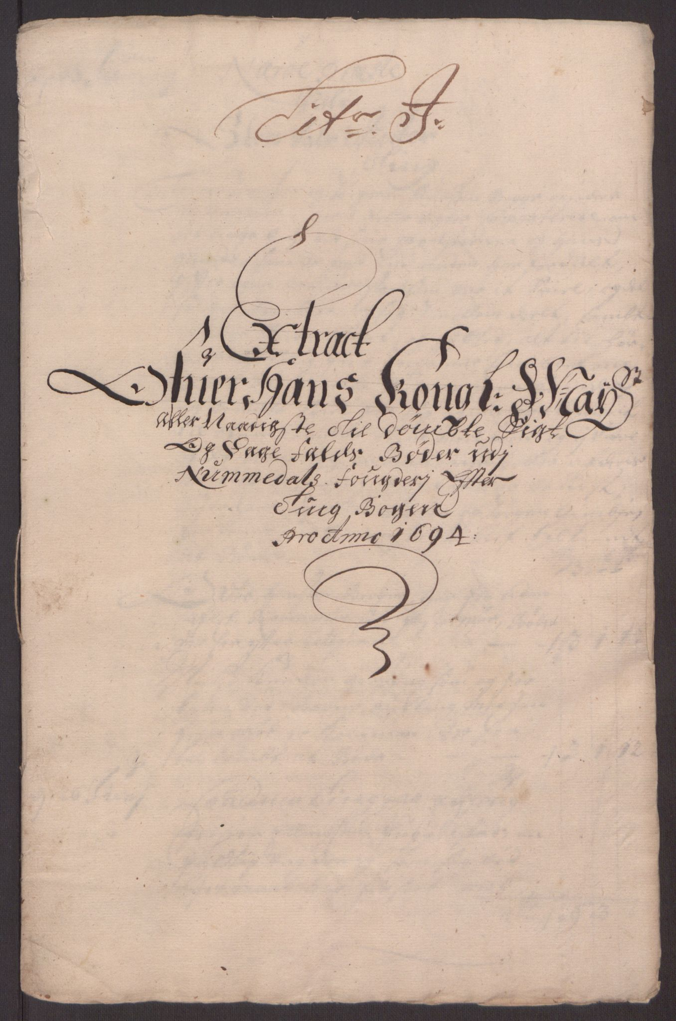 RA, Rentekammeret inntil 1814, Reviderte regnskaper, Fogderegnskap, R64/L4424: Fogderegnskap Namdal, 1692-1695, s. 390