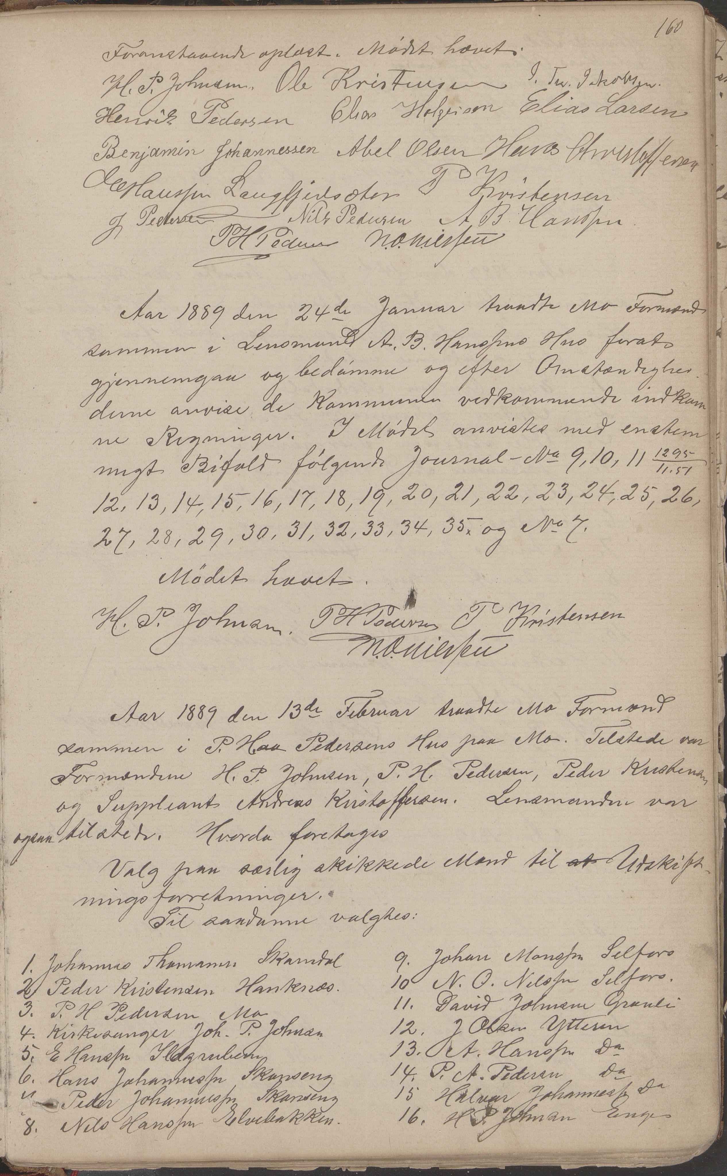 AIN, Mo kommune. Formannskapet, A/Aa/L0002: Møtebok, 1876-1891, s. 160