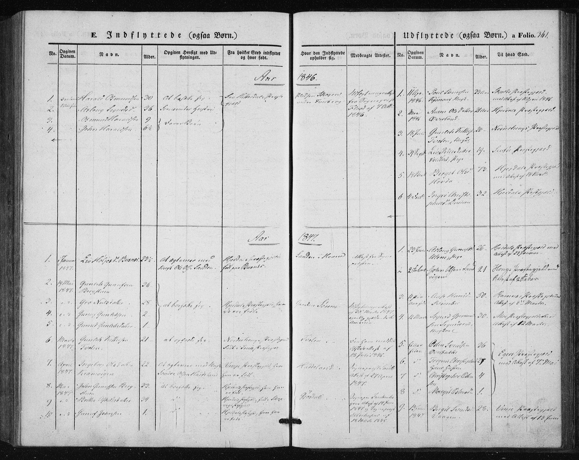 SAKO, Tinn kirkebøker, F/Fa/L0005: Ministerialbok nr. I 5, 1844-1856, s. 361