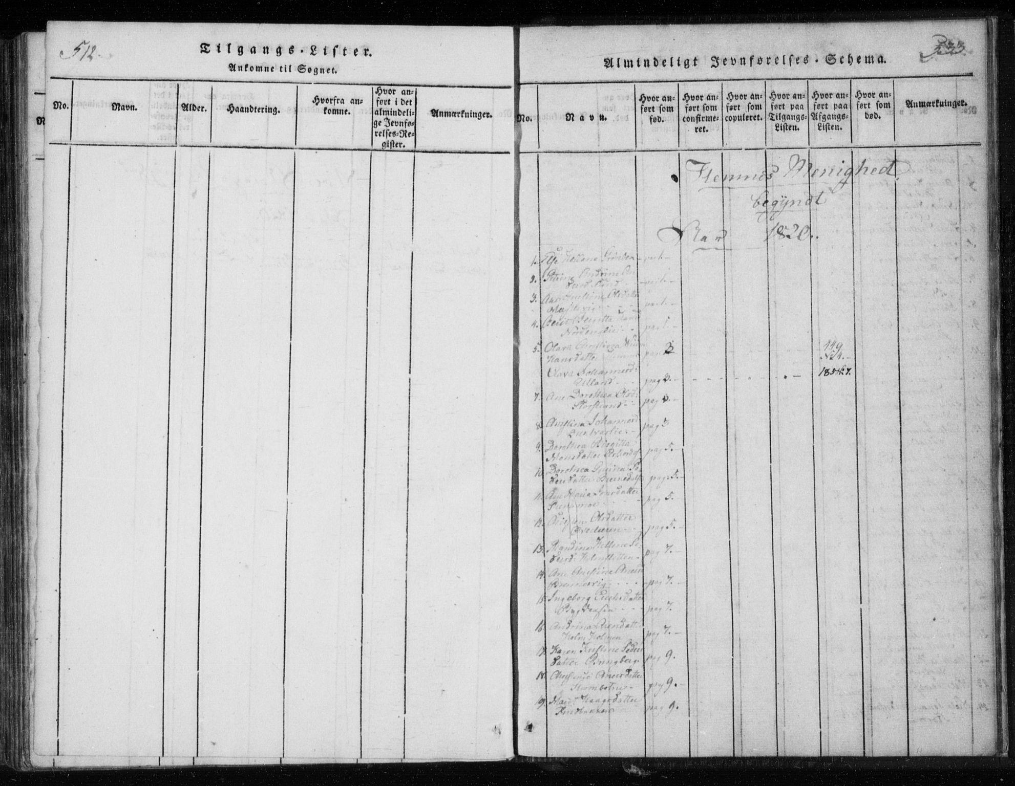 SAT, Ministerialprotokoller, klokkerbøker og fødselsregistre - Nordland, 825/L0353: Ministerialbok nr. 825A07, 1820-1826, s. 532-533