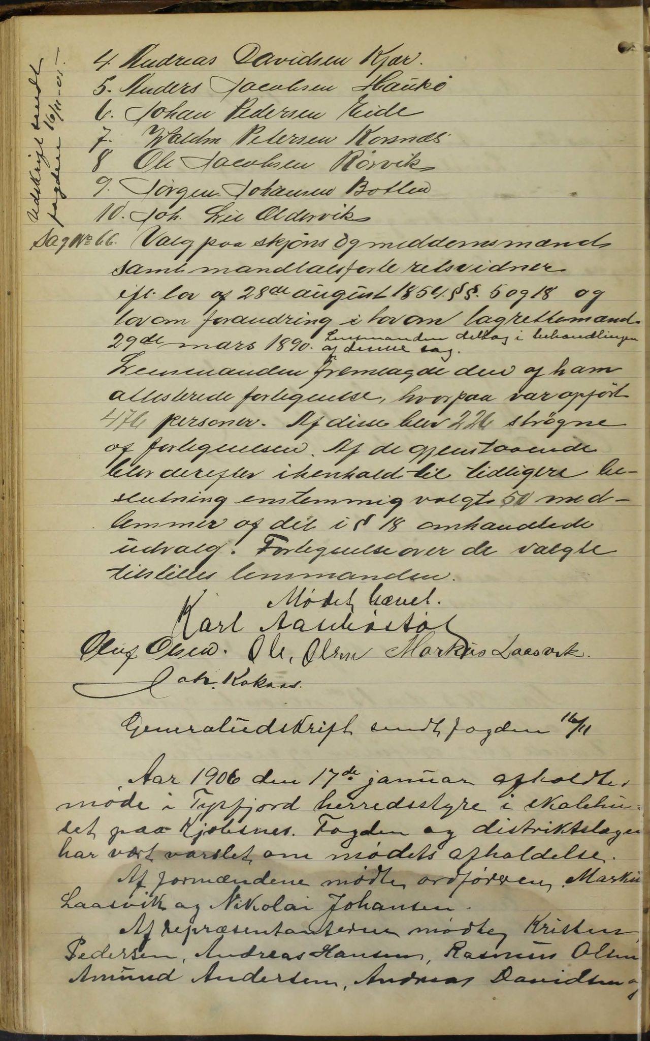 AIN, Tysfjord kommune. Formannskapet, 100/L0002: Forhandlingsprotokoll for Tysfjordens formandskap, 1895-1912, s. 145b