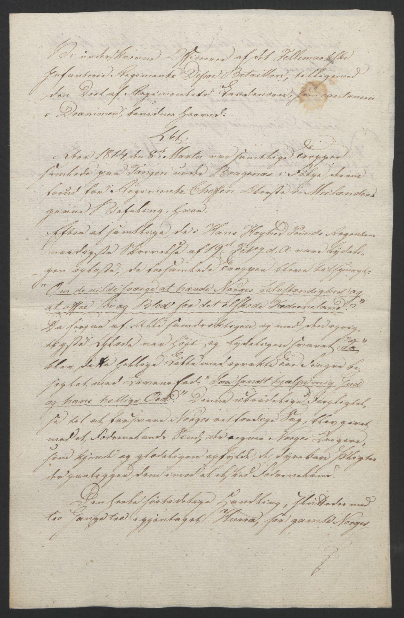RA, Statsrådssekretariatet, D/Db/L0007: Fullmakter for Eidsvollsrepresentantene i 1814. , 1814, s. 103