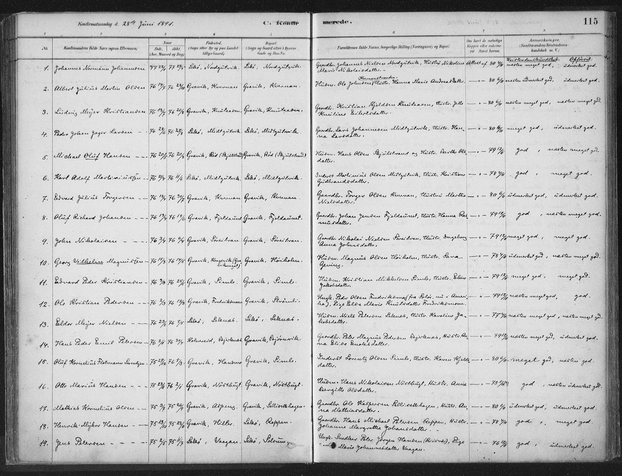 SAT, Ministerialprotokoller, klokkerbøker og fødselsregistre - Nord-Trøndelag, 788/L0697: Ministerialbok nr. 788A04, 1878-1902, s. 115