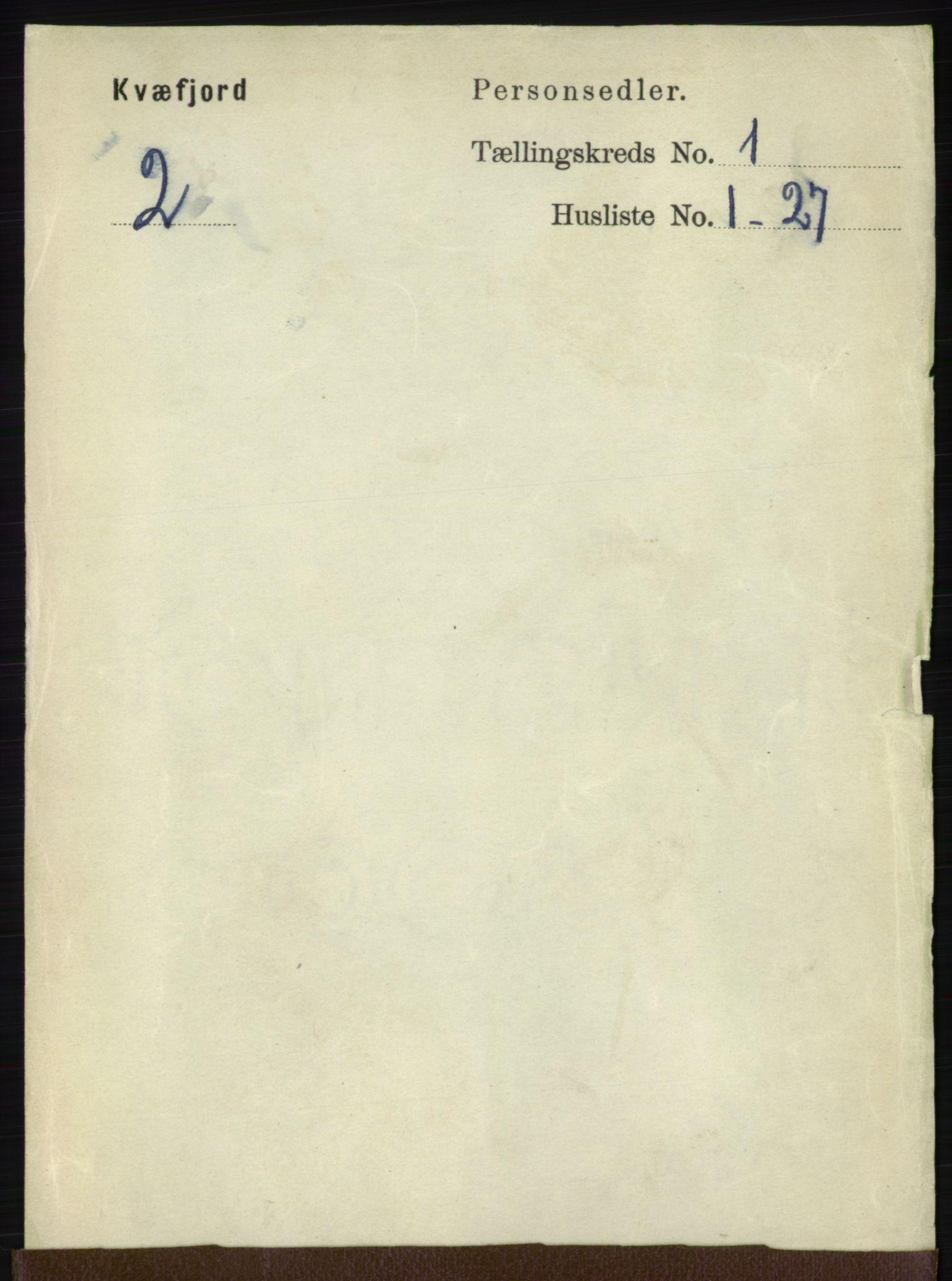 RA, Folketelling 1891 for 1911 Kvæfjord herred, 1891, s. 94