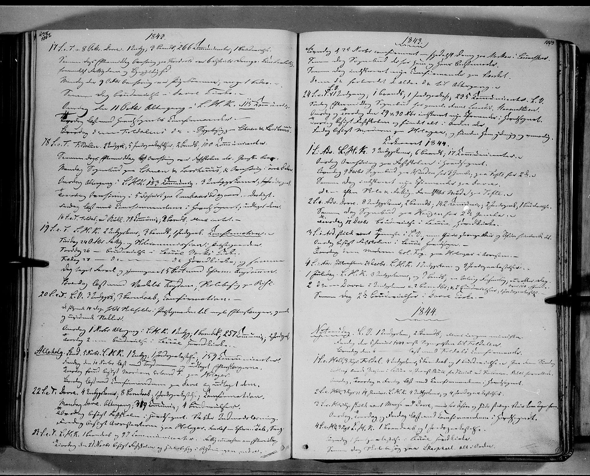 SAH, Lesja prestekontor, Ministerialbok nr. 6B, 1843-1854, s. 1062-1063