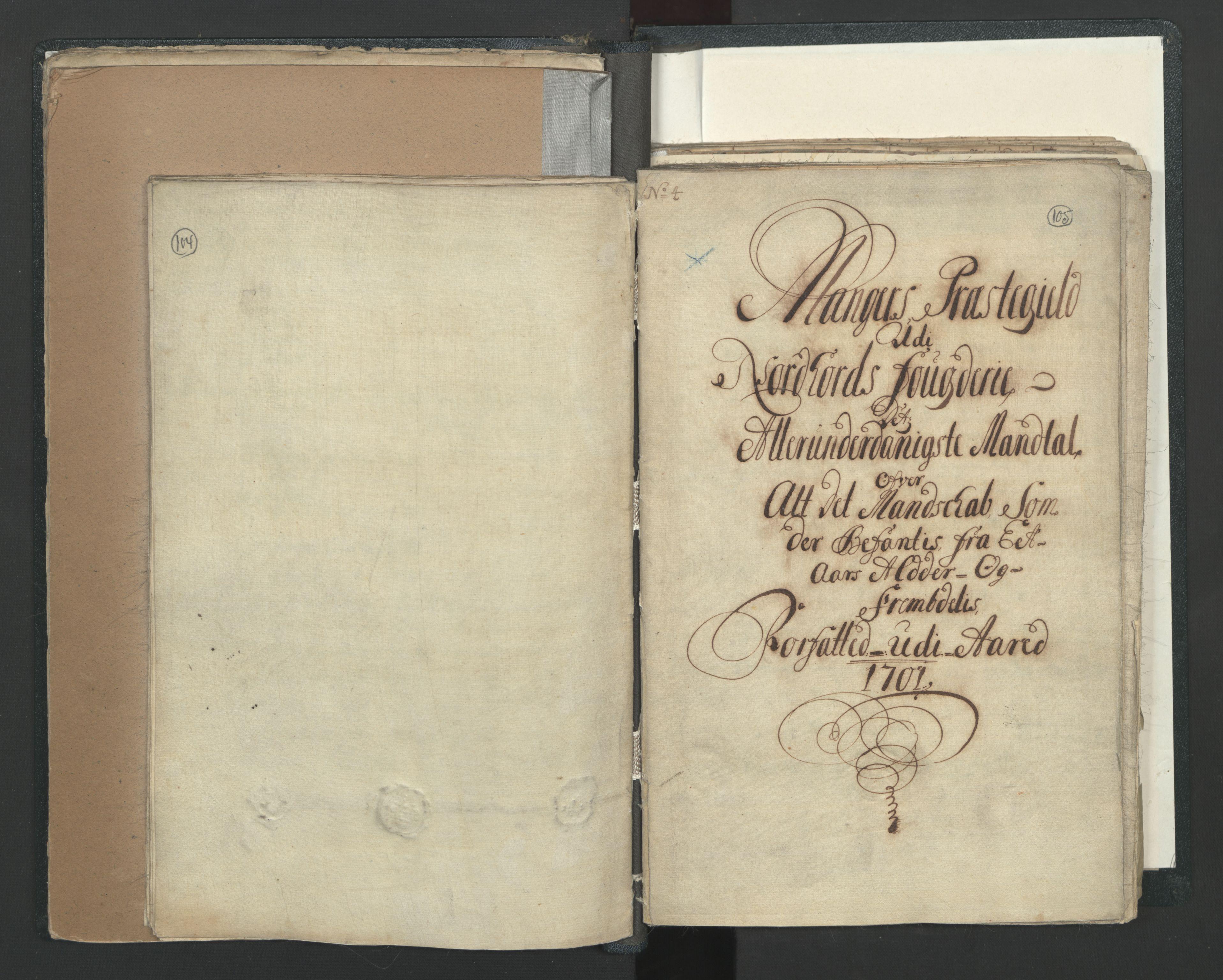 RA, Manntallet 1701, nr. 7: Nordhordland og Voss fogderi, 1701, s. 104-105