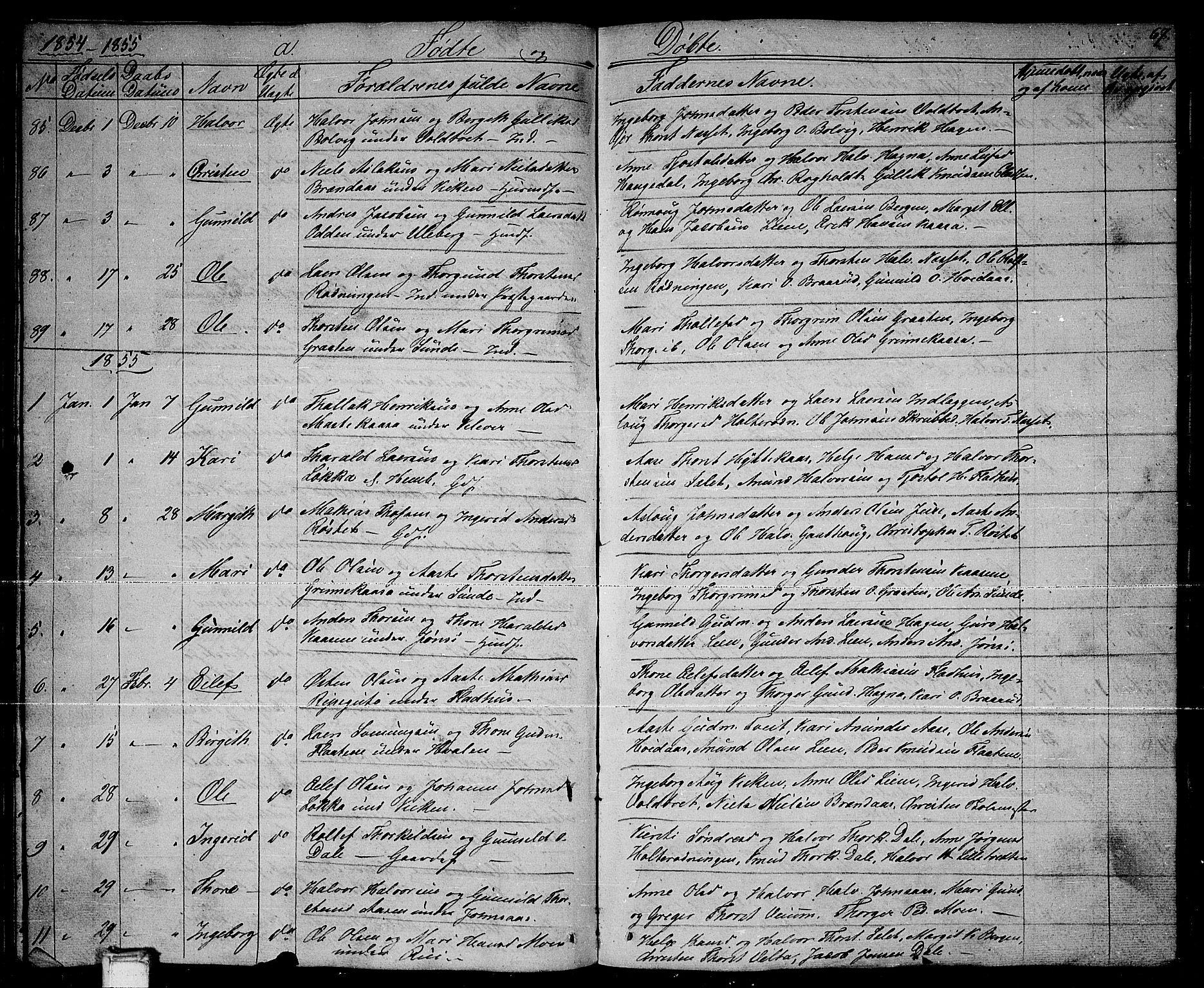 SAKO, Sauherad kirkebøker, G/Ga/L0002: Klokkerbok nr. I 2, 1842-1866, s. 67