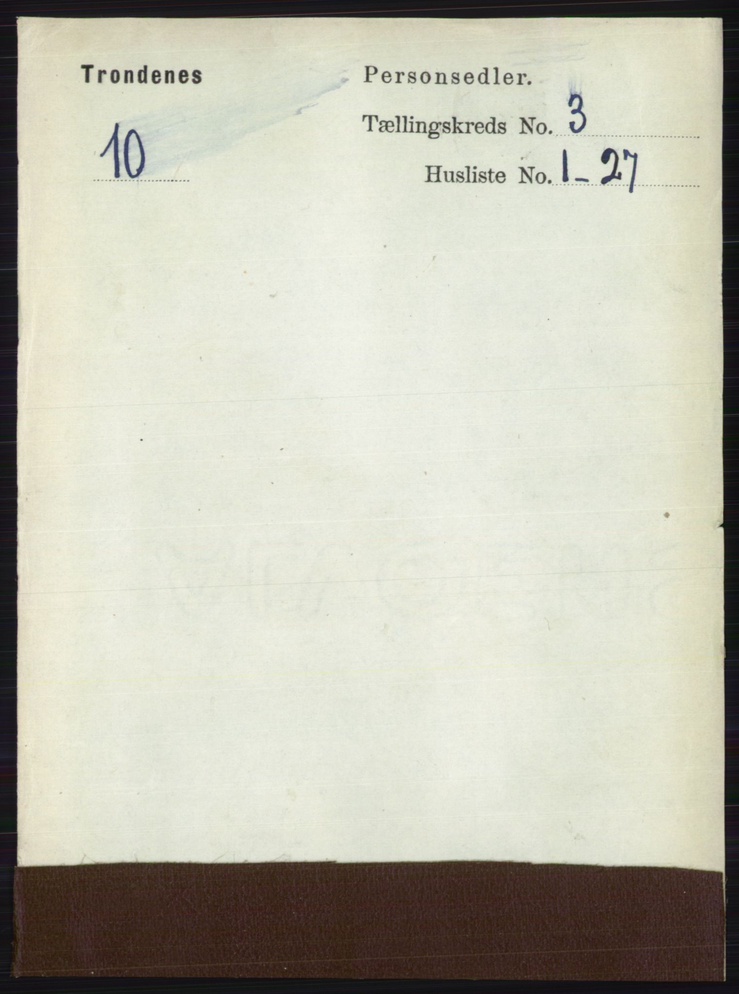 RA, Folketelling 1891 for 1914 Trondenes herred, 1891, s. 1201
