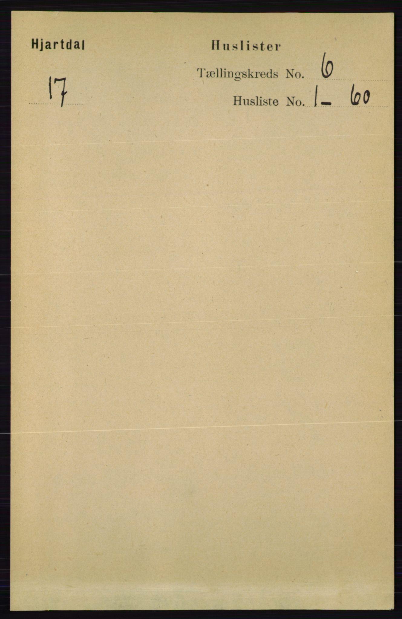 RA, Folketelling 1891 for 0827 Hjartdal herred, 1891, s. 2124