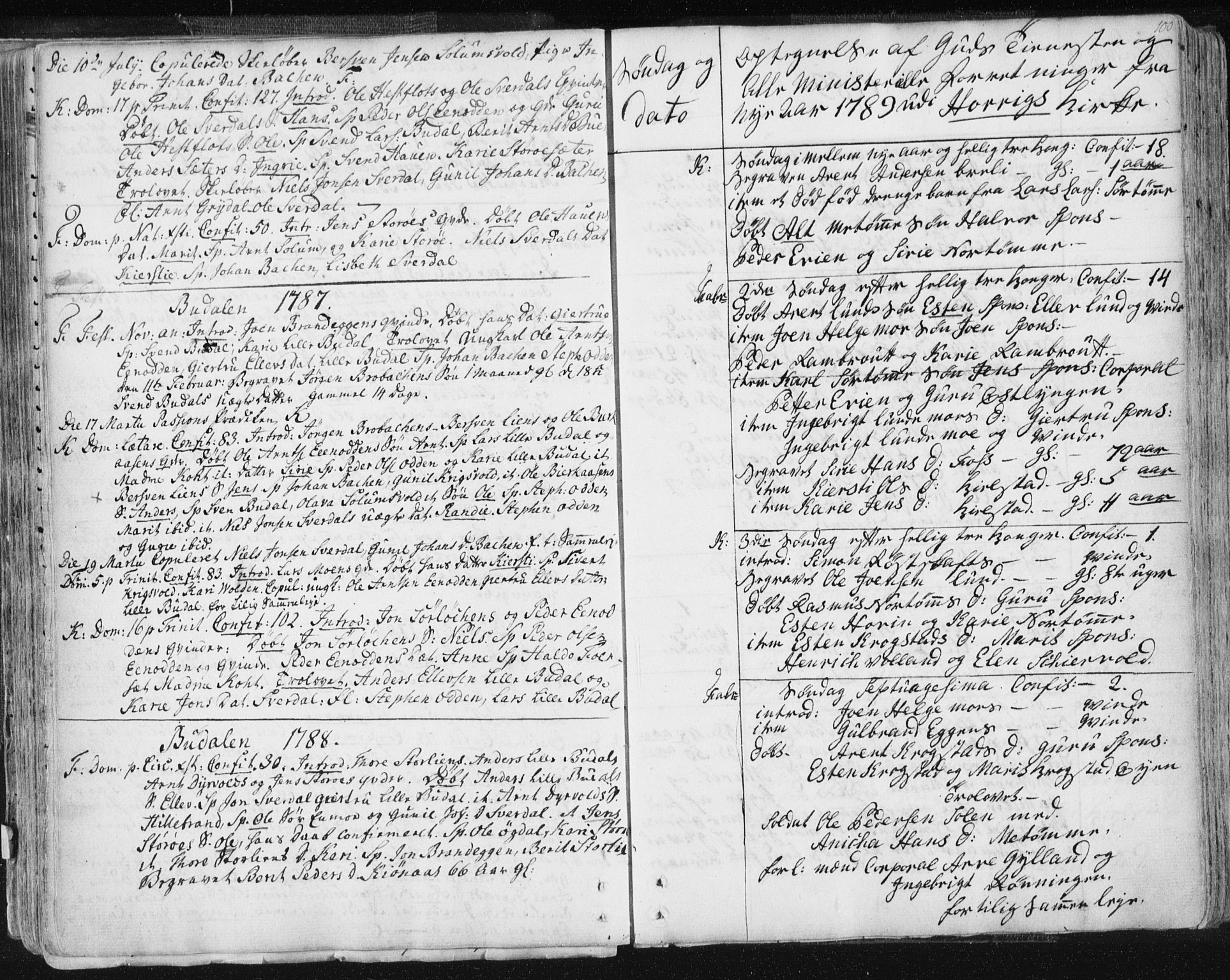 SAT, Ministerialprotokoller, klokkerbøker og fødselsregistre - Sør-Trøndelag, 687/L0991: Ministerialbok nr. 687A02, 1747-1790, s. 100