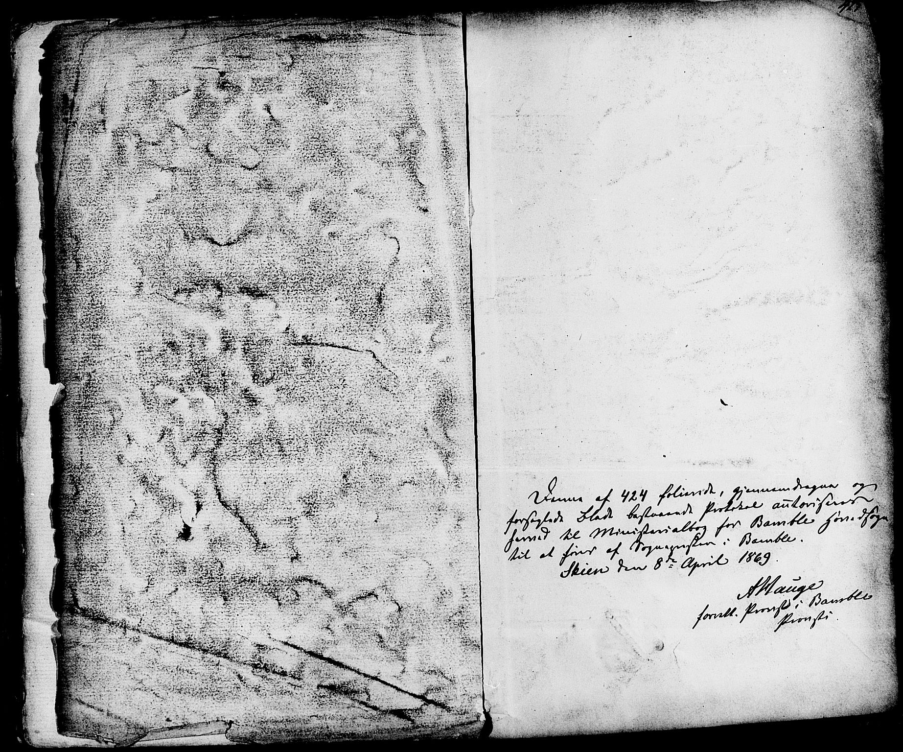 SAKO, Bamble kirkebøker, F/Fa/L0006: Ministerialbok nr. I 6, 1869-1877, s. 425