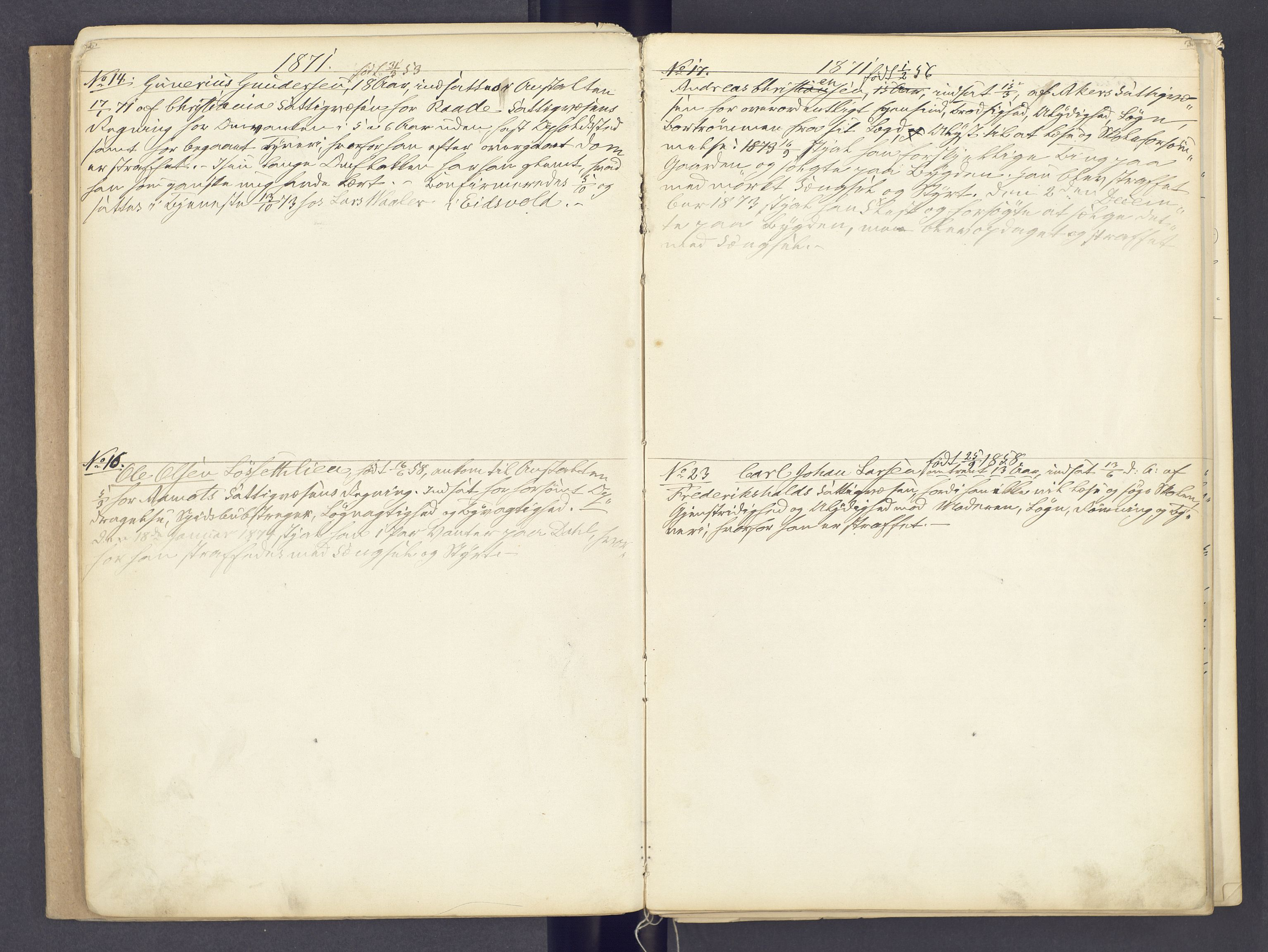 SAH, Toftes Gave, F/Fc/L0002: Elevprotokoll, 1870-1885, s. 2-3