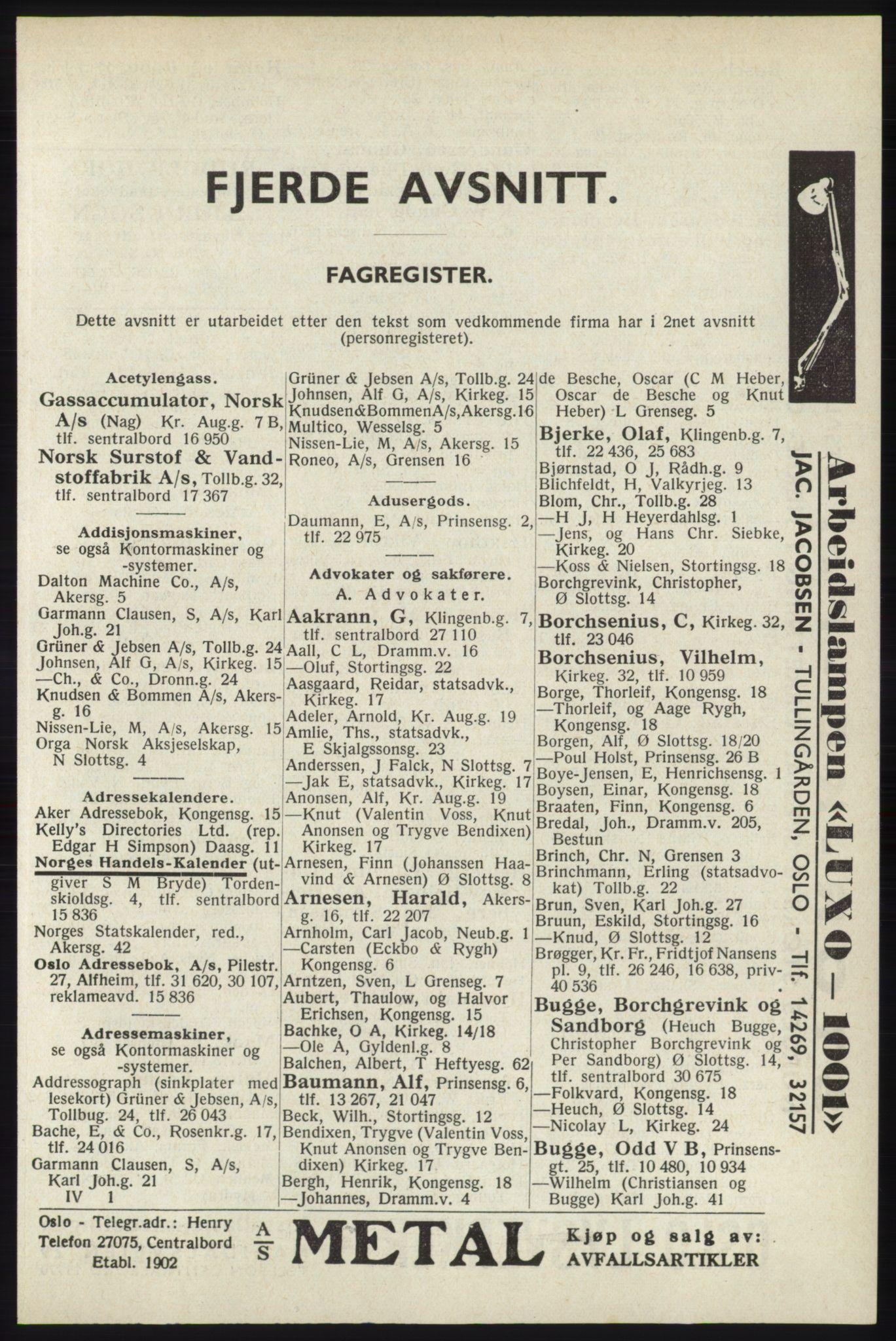 RA, Oslo adressebok (publikasjon)*, 1940, s. 2681
