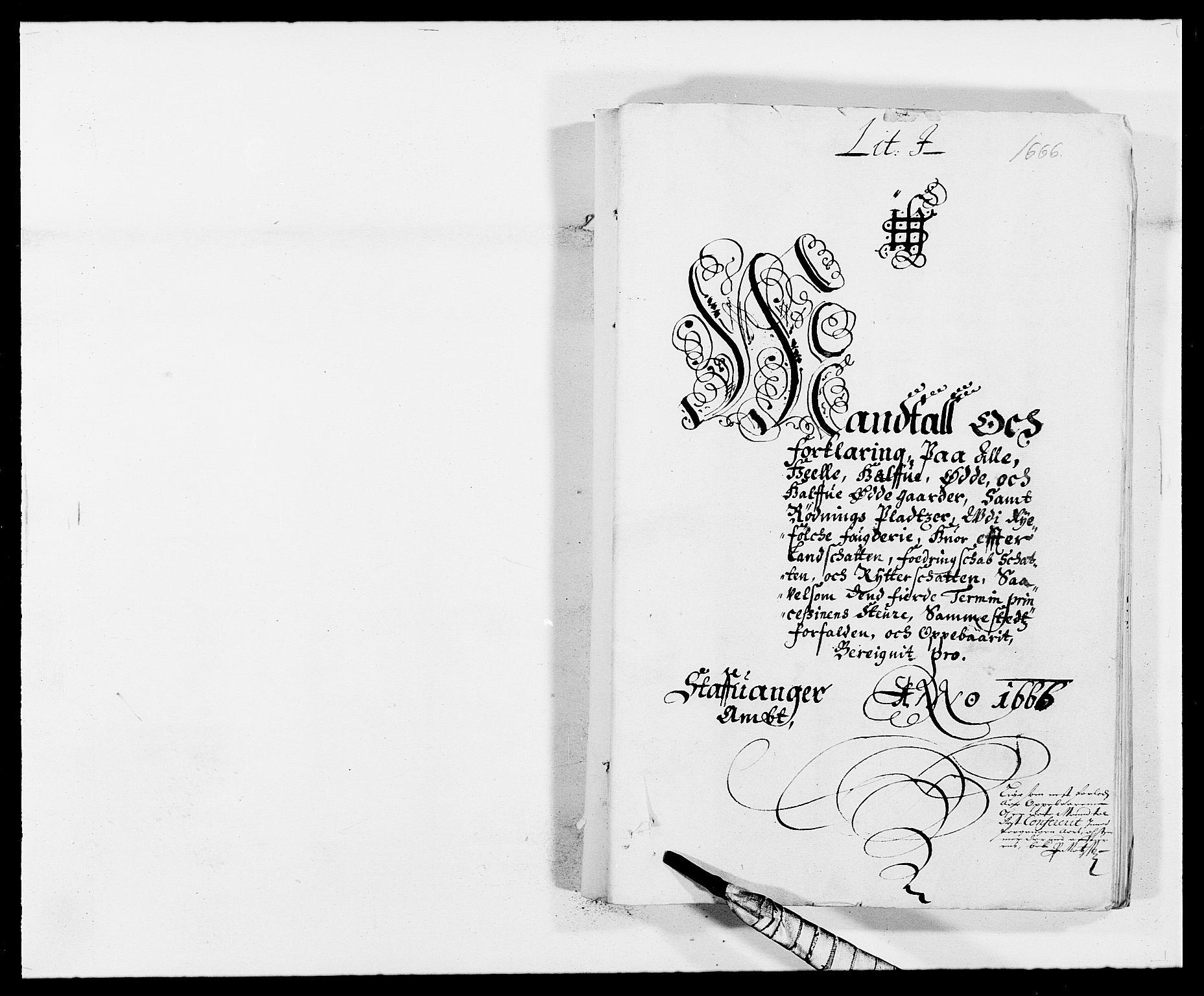 RA, Rentekammeret inntil 1814, Reviderte regnskaper, Fogderegnskap, R47/L2840: Fogderegnskap Ryfylke, 1665-1669, s. 85