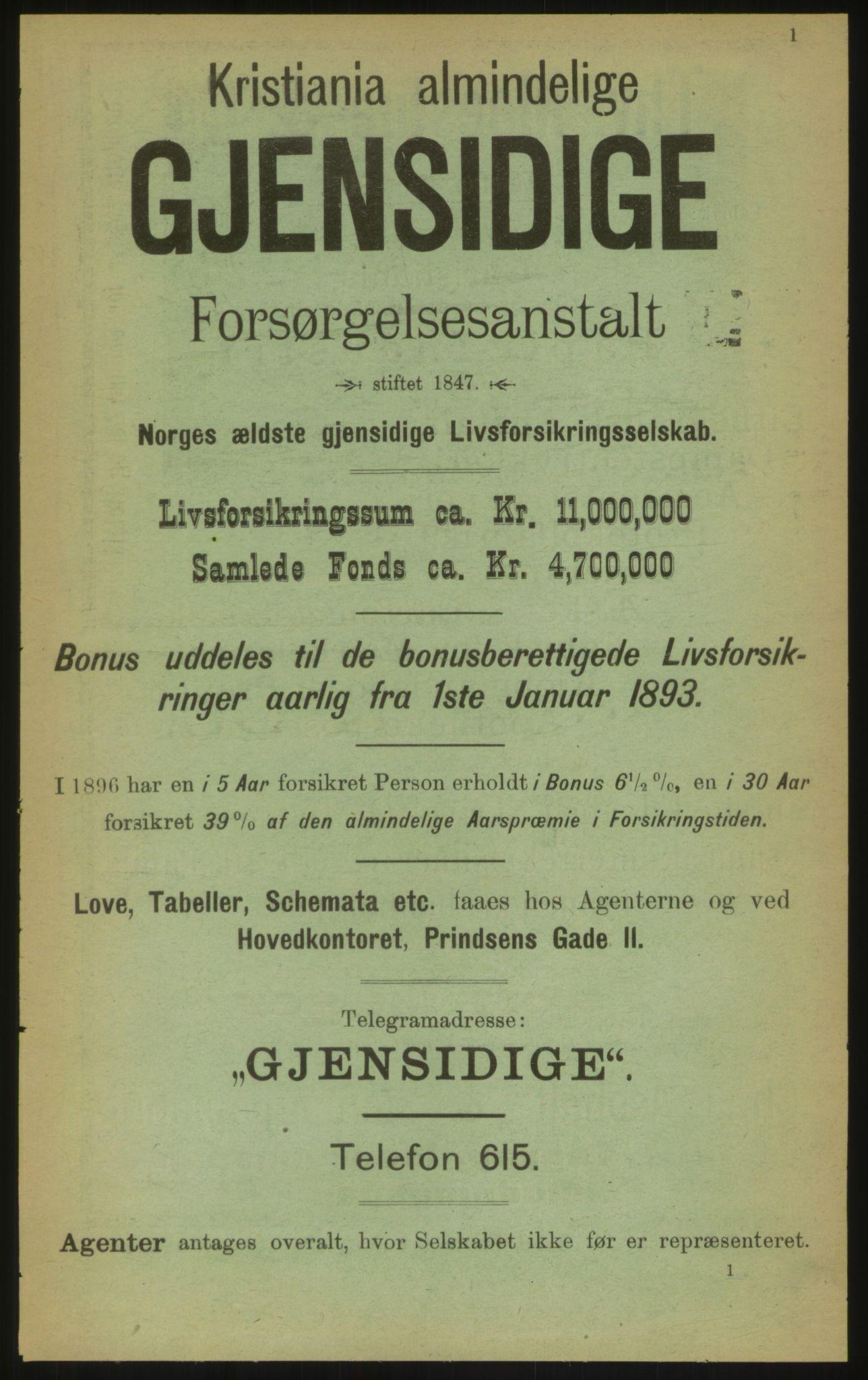PUBL, Kristiania/Oslo adressebok, 1897, s. 1