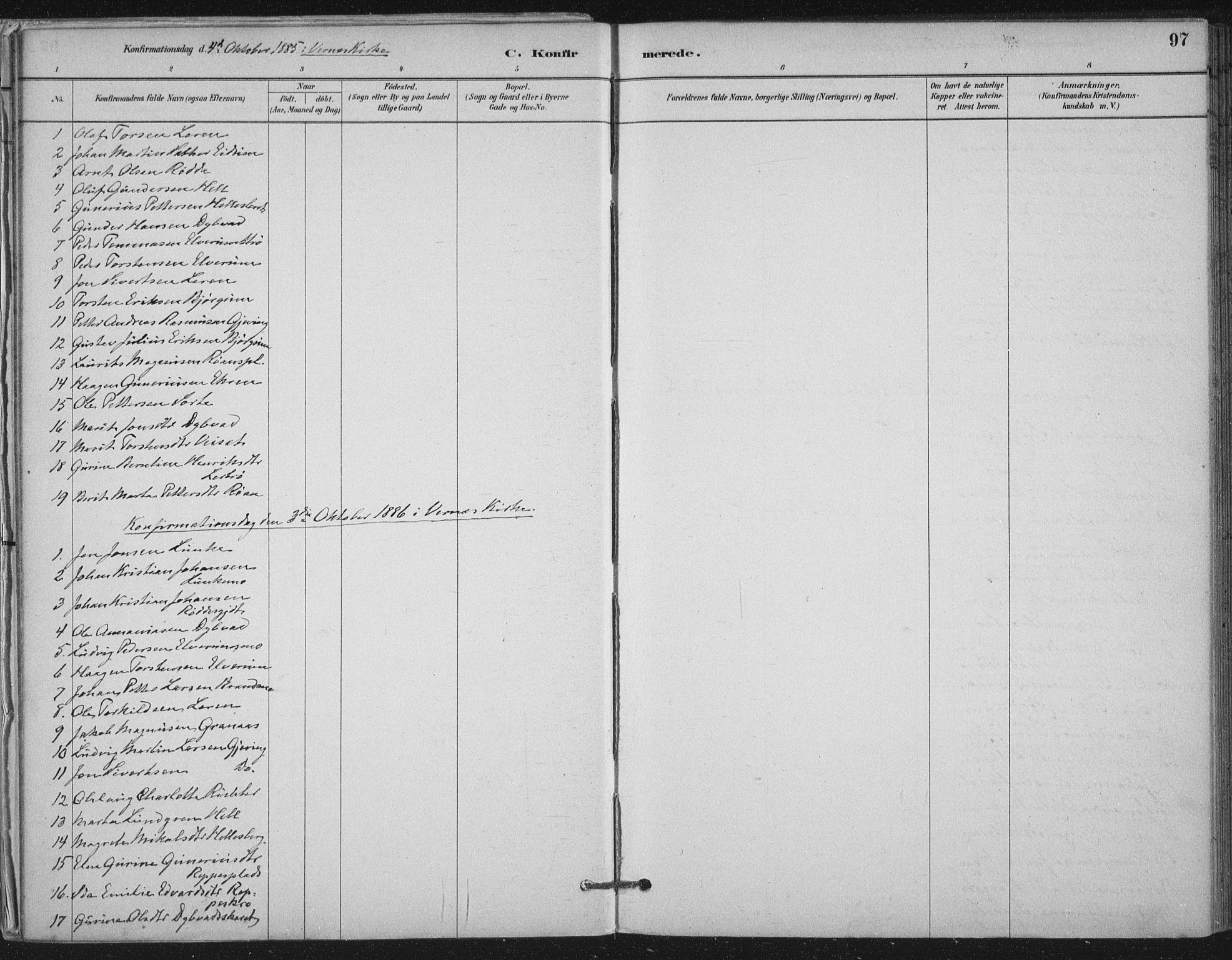 SAT, Ministerialprotokoller, klokkerbøker og fødselsregistre - Nord-Trøndelag, 710/L0095: Ministerialbok nr. 710A01, 1880-1914, s. 97