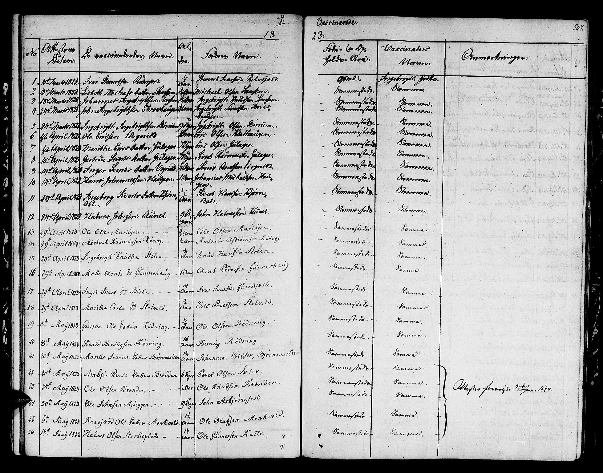 SAT, Ministerialprotokoller, klokkerbøker og fødselsregistre - Sør-Trøndelag, 678/L0897: Ministerialbok nr. 678A06-07, 1821-1847, s. 507