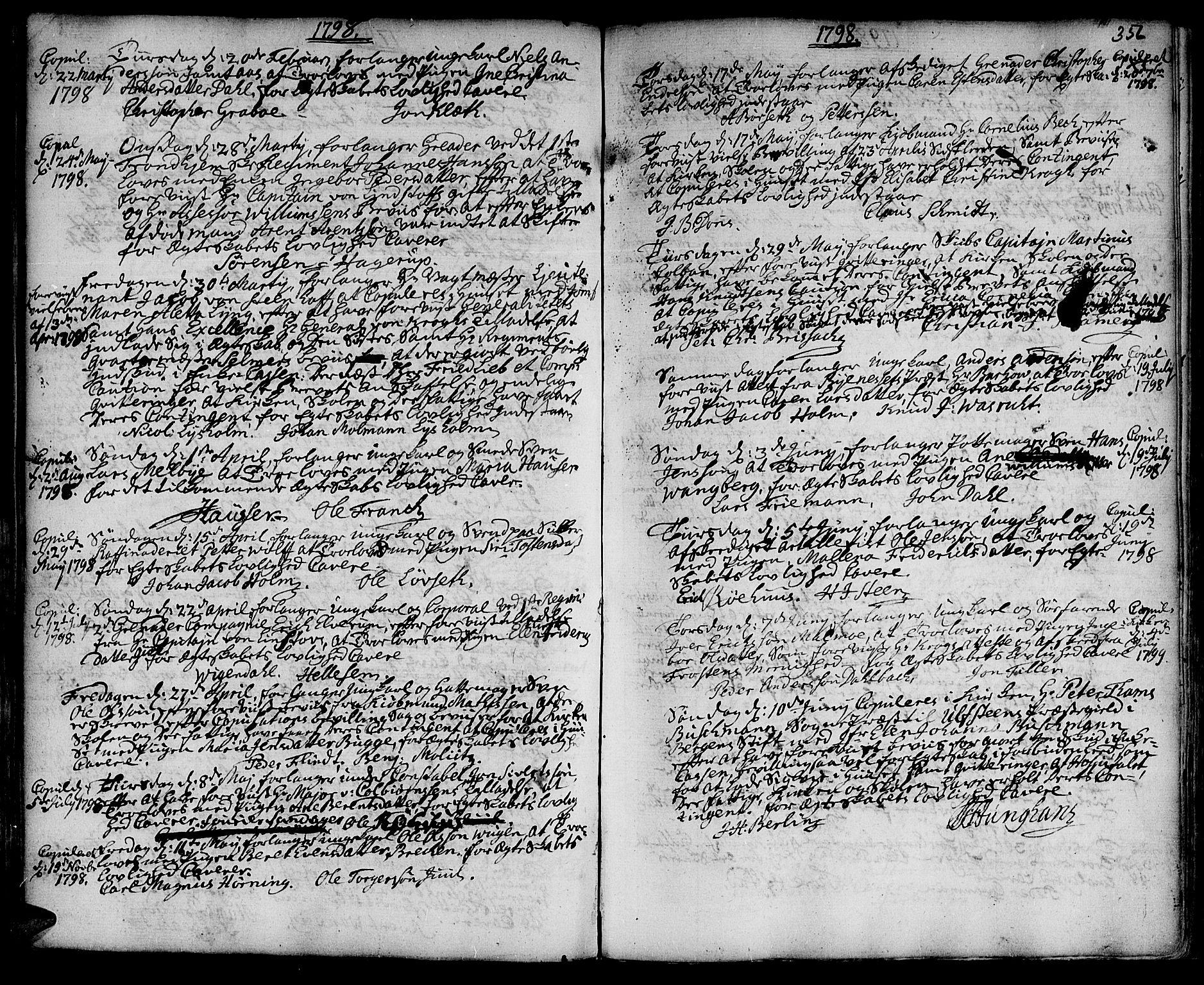 SAT, Ministerialprotokoller, klokkerbøker og fødselsregistre - Sør-Trøndelag, 601/L0038: Ministerialbok nr. 601A06, 1766-1877, s. 356c