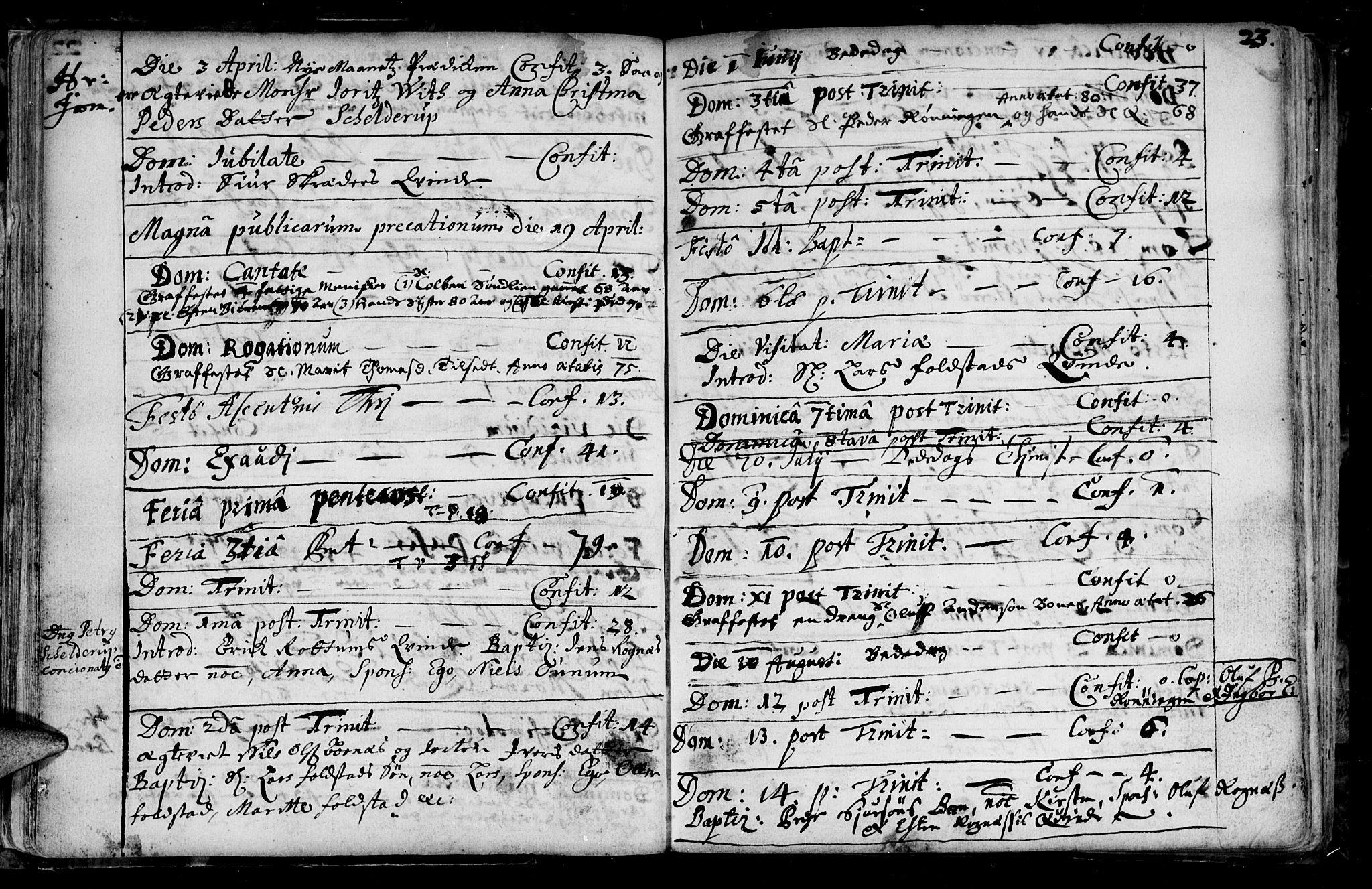 SAT, Ministerialprotokoller, klokkerbøker og fødselsregistre - Sør-Trøndelag, 687/L0990: Ministerialbok nr. 687A01, 1690-1746, s. 23